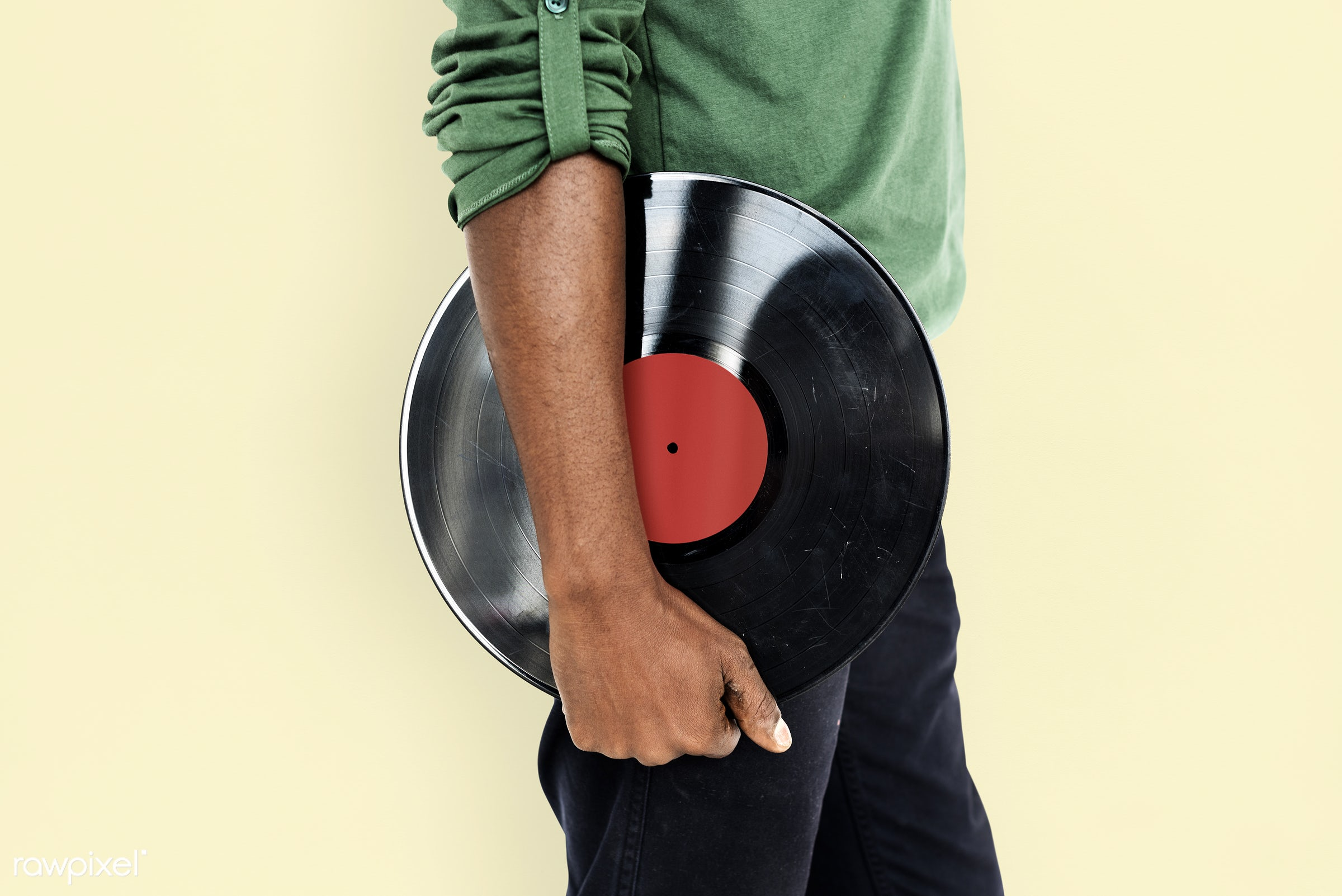 studio, expression, person, african, holding, retro, disc jockey, entertain, recreation, people, hand, casual, dj, vinyl,...