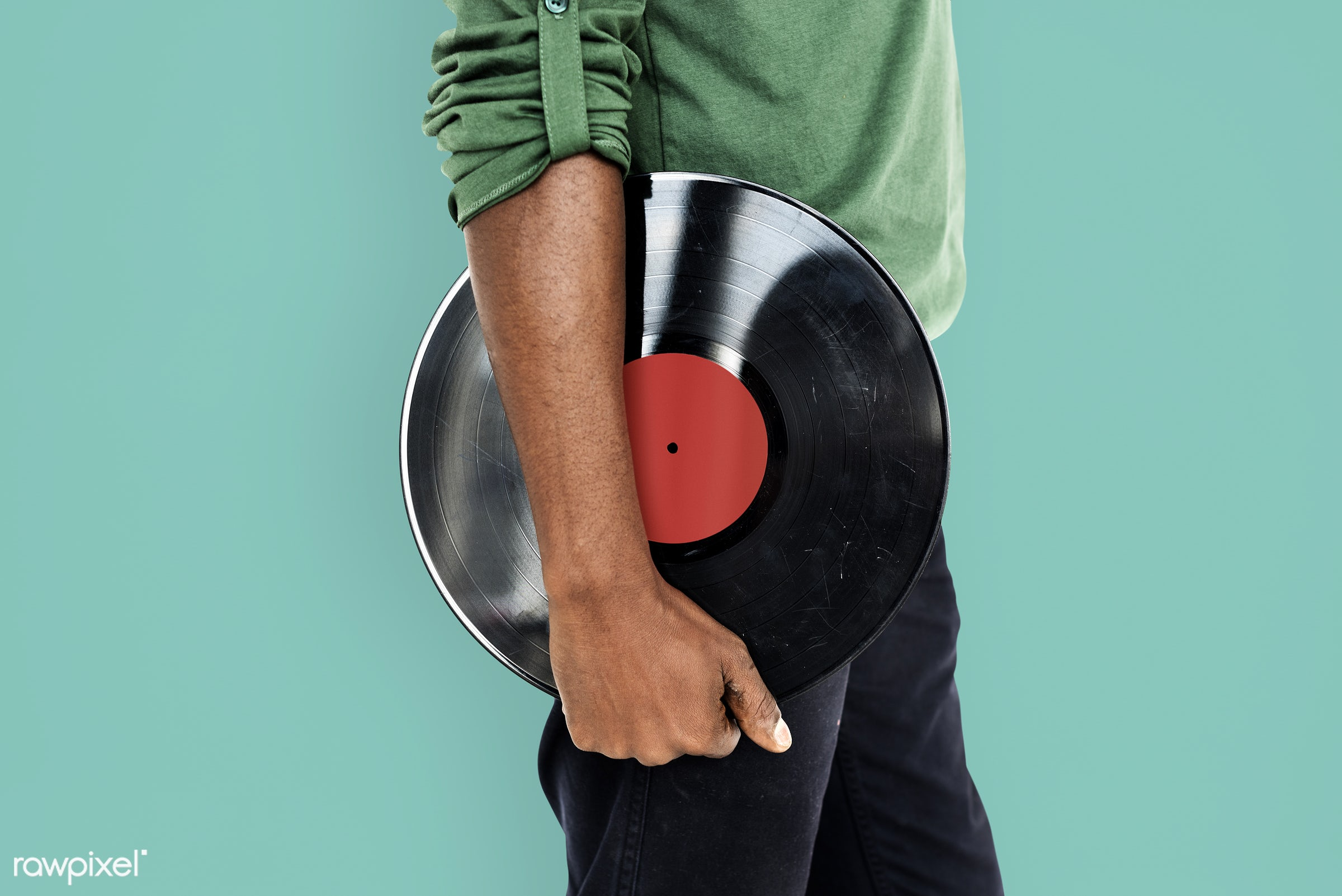 studio, expression, person, african, holding, retro, disc jockey, entertain, recreation, people, hand, casual, dj, vinyl,...