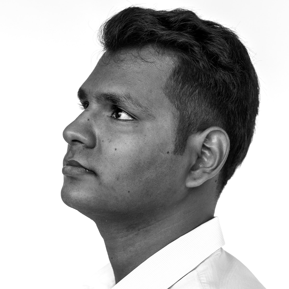 Worldface-Indian man in a white background