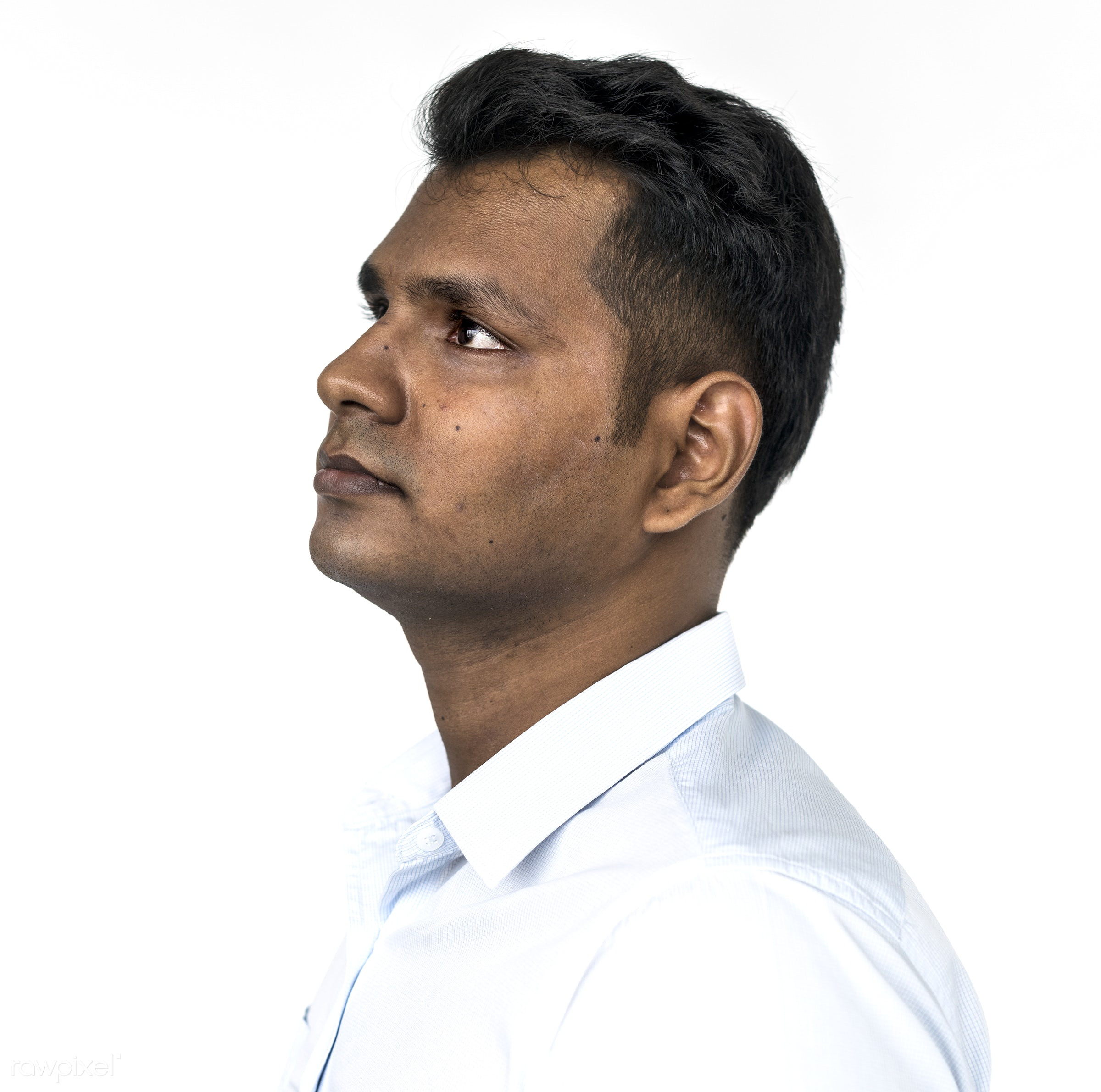 studio, asian, face expression, serene face, look up, solo, side, closeup, man, headshot, gesture, indian, portrait, emotion...