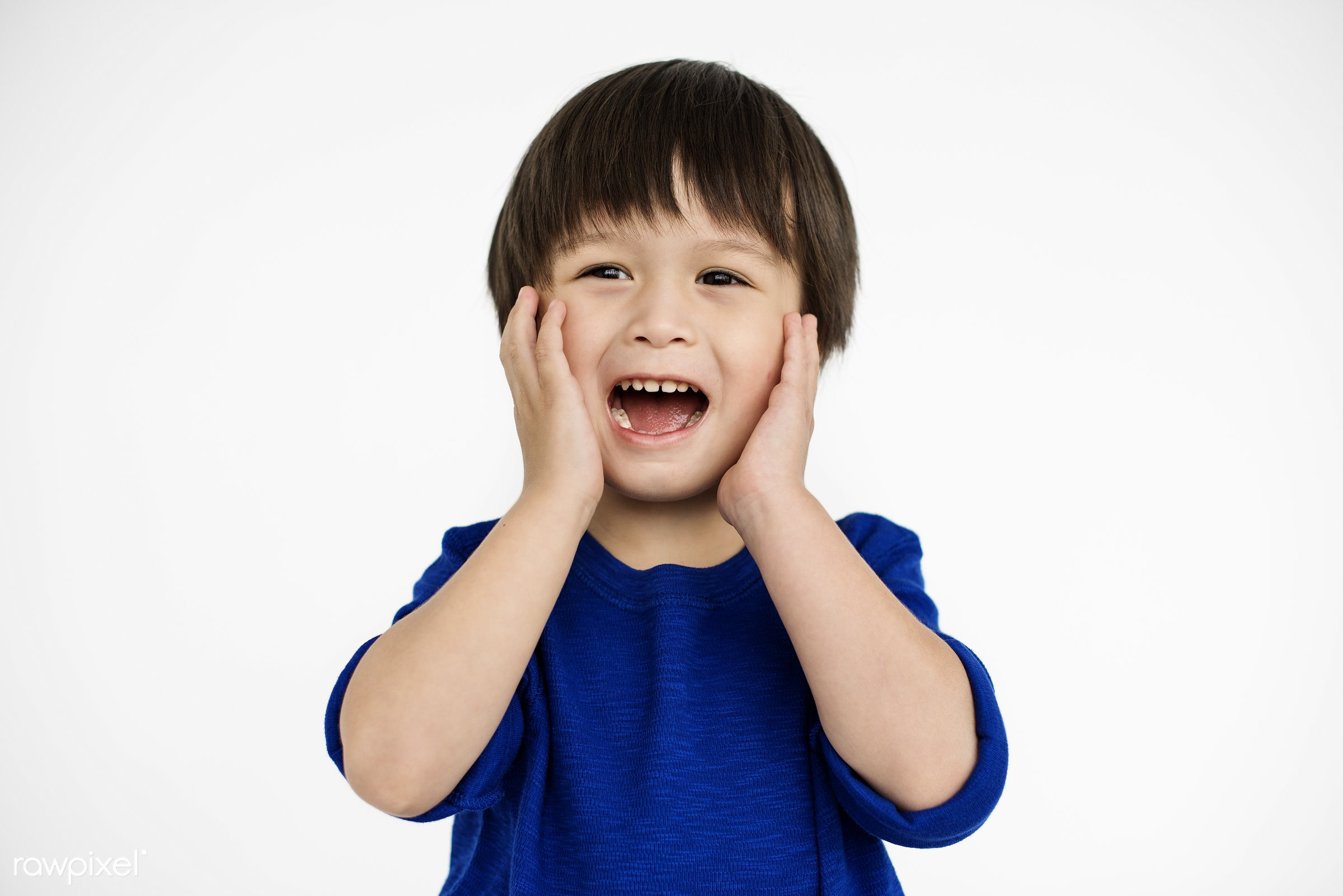 expression, studio, person, sadness, isolated on white, sad, pain, cute, kid, asian, man, unhappy, isolated, scream, crying...