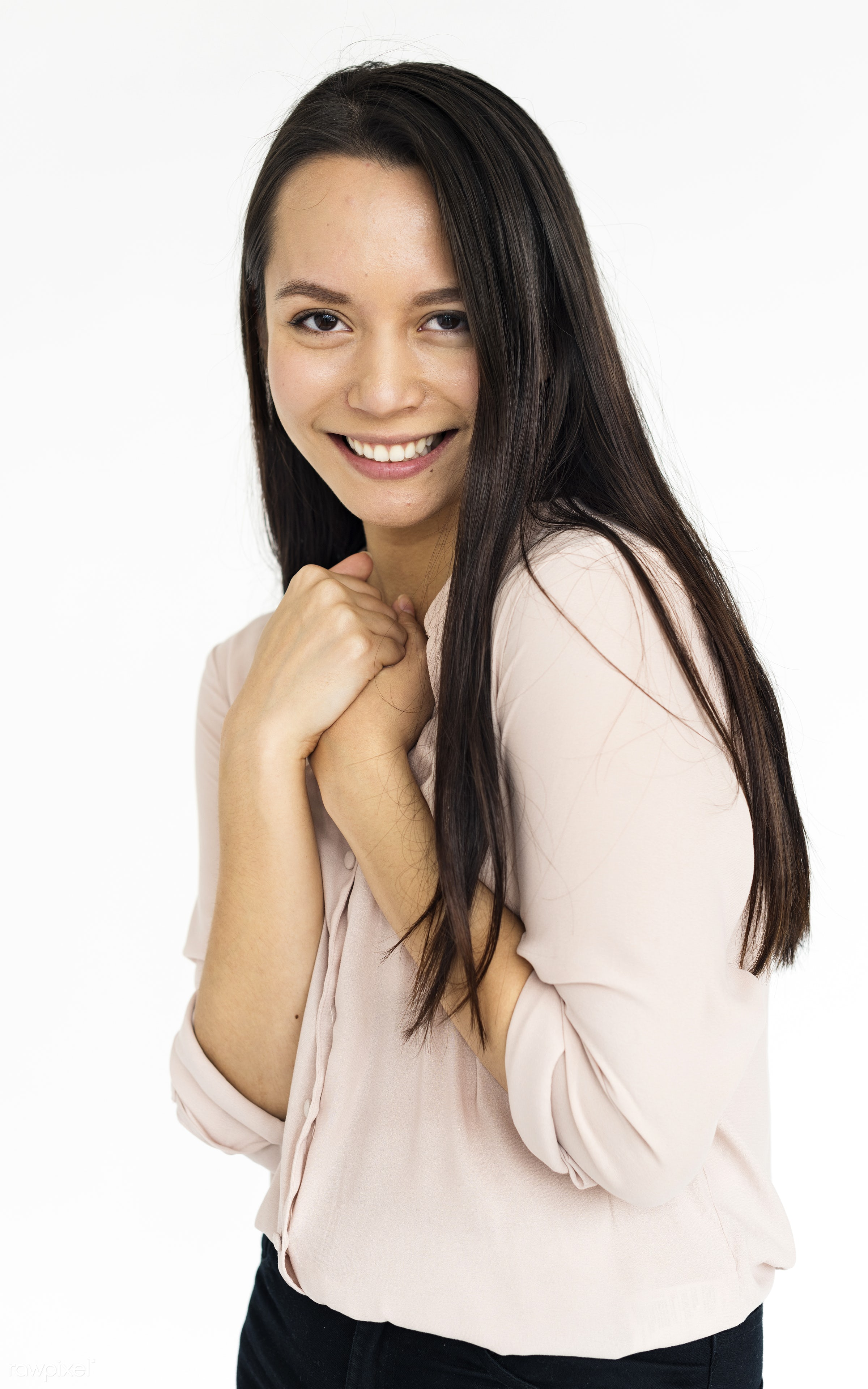 studio, expression, person, bright, caucasian, woman, relaxed, lifestyle, positive, smile, alone, cheerful, happiness,...