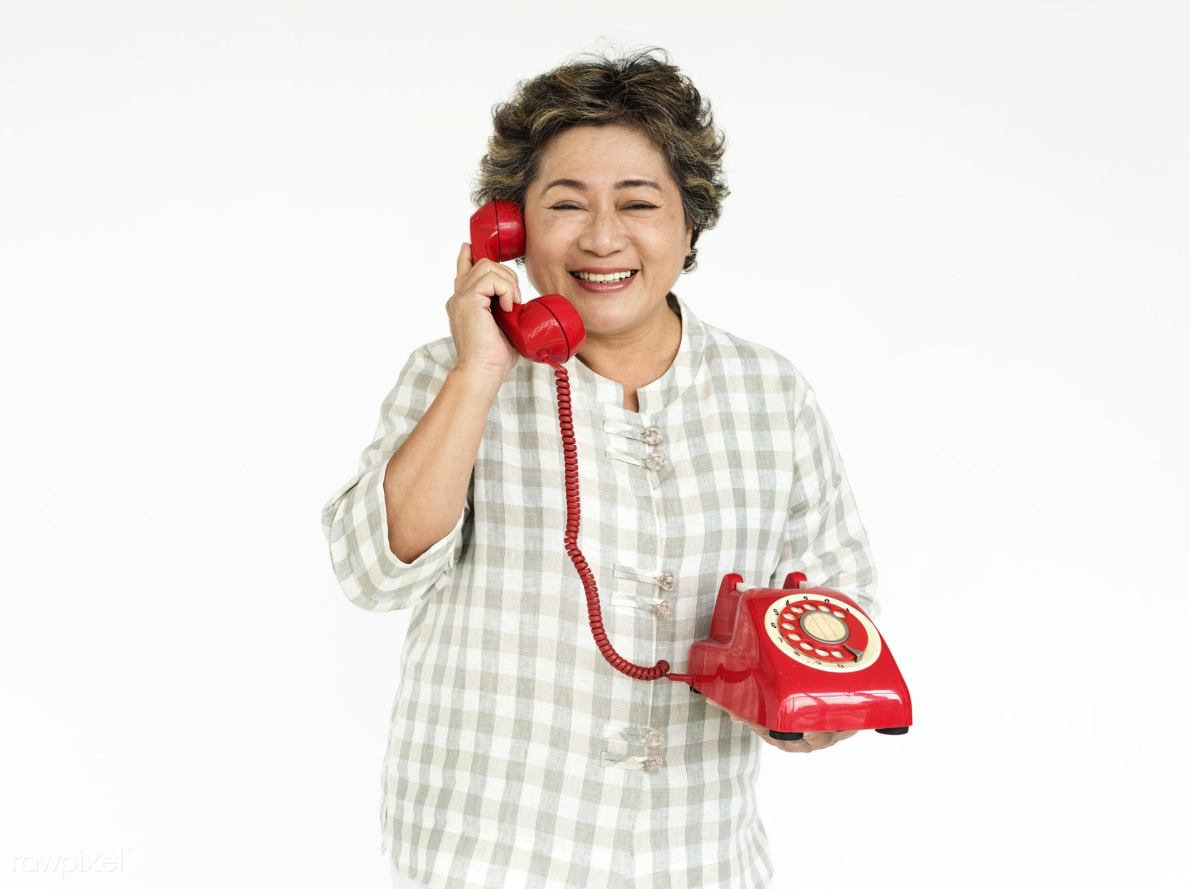 expression, studio, old, person, phone, discussion, asian, retirement, ancient, telecommunication, woman, cheerful, smiling...