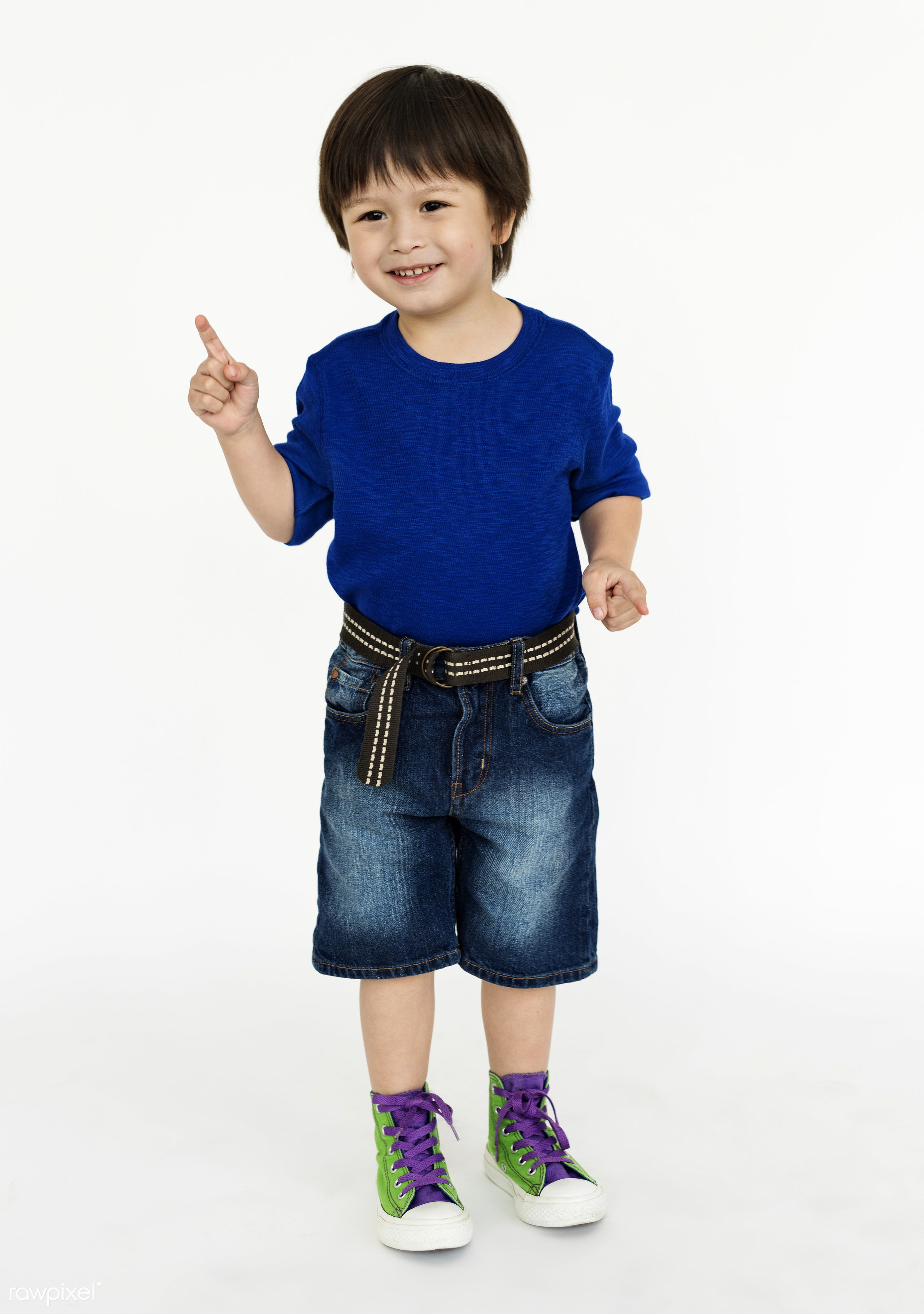 expression, studio, person, full length, isolated on white, cute, kid, asian, student, happy, casual, positive, smiling, man...