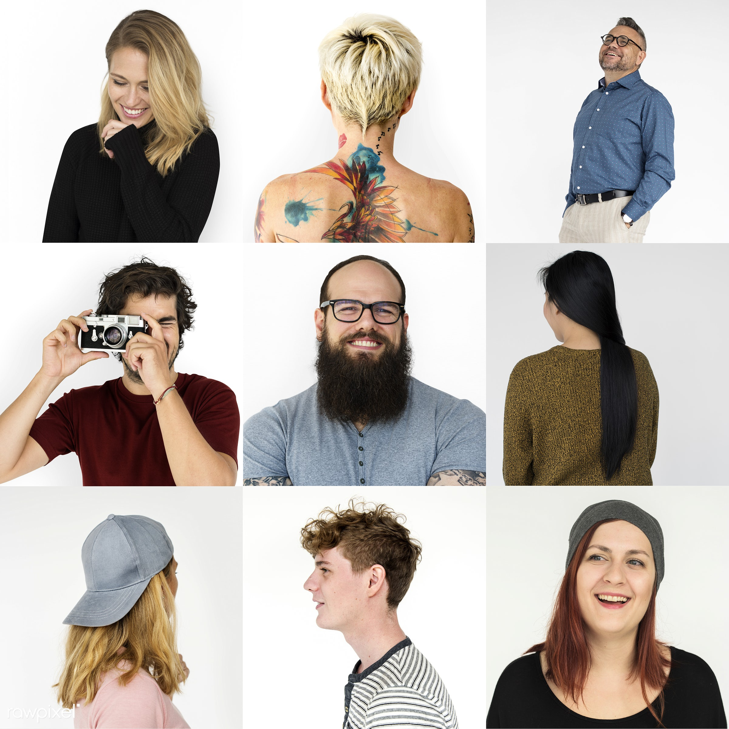 studio, interests, diverse, collages, people, habits, conduct, life, style, woman, lifestyle, casual, passion, isolated,...