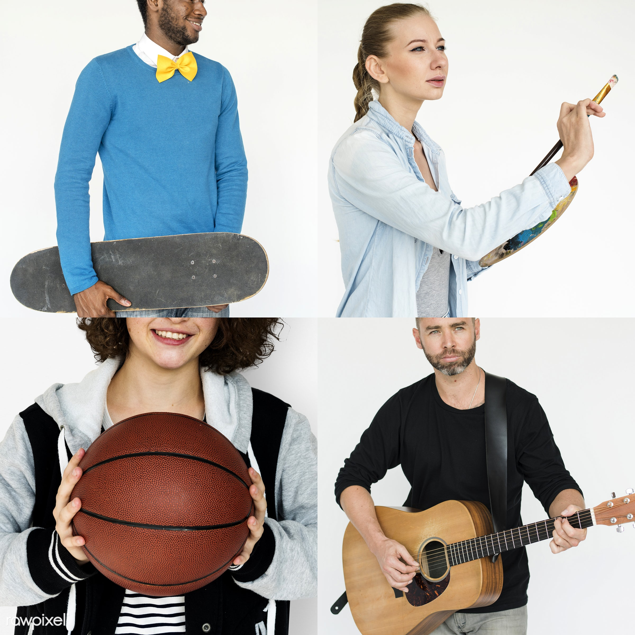 basketball, studio, person, diverse, entertain, recreation, people, young adult, woman, lifestyle, cheerful, isolated, hobby...