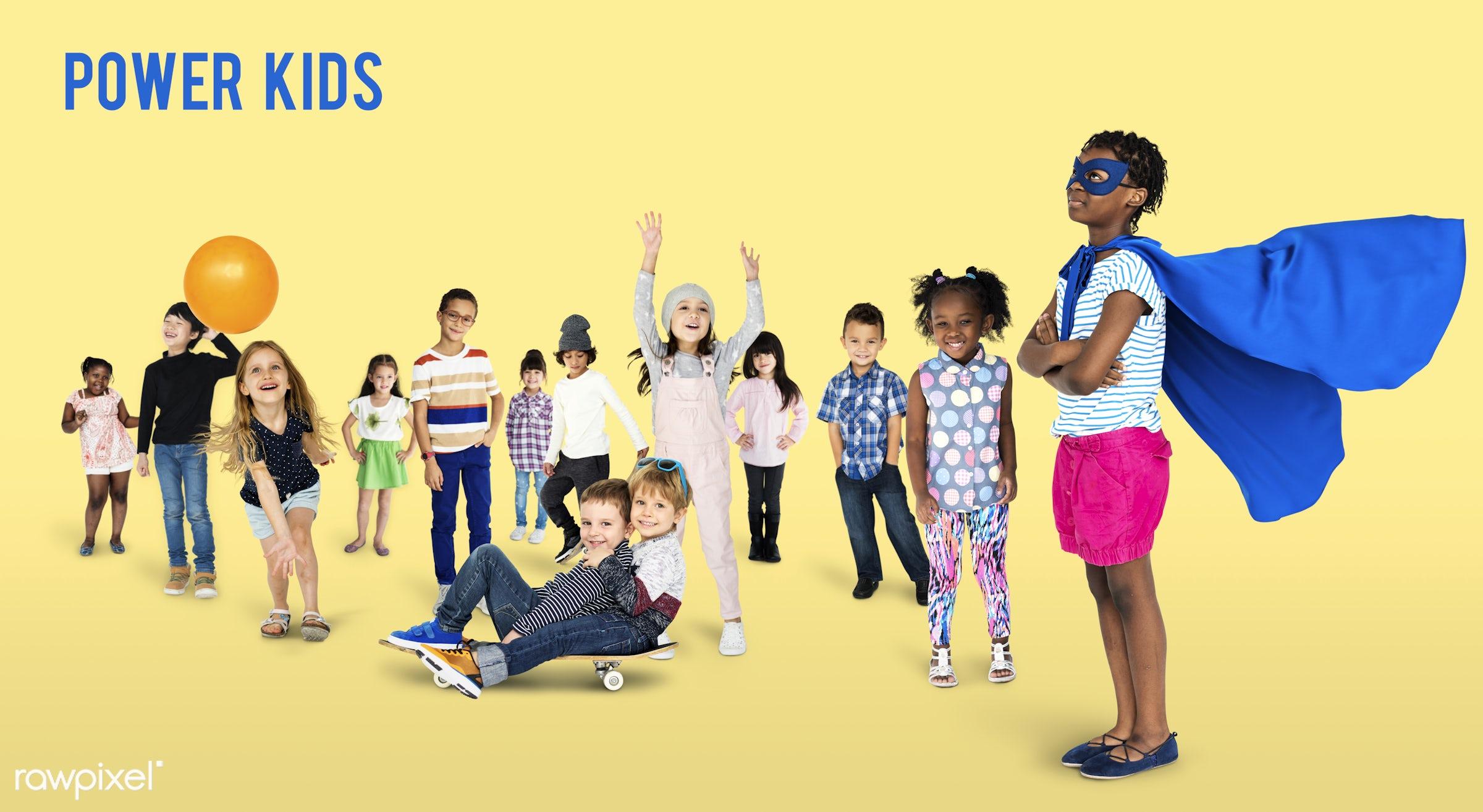 studio, person, diverse, innocent, little, entertain, recreation, people, caucasian, asian, little girls, lifestyle, power,...