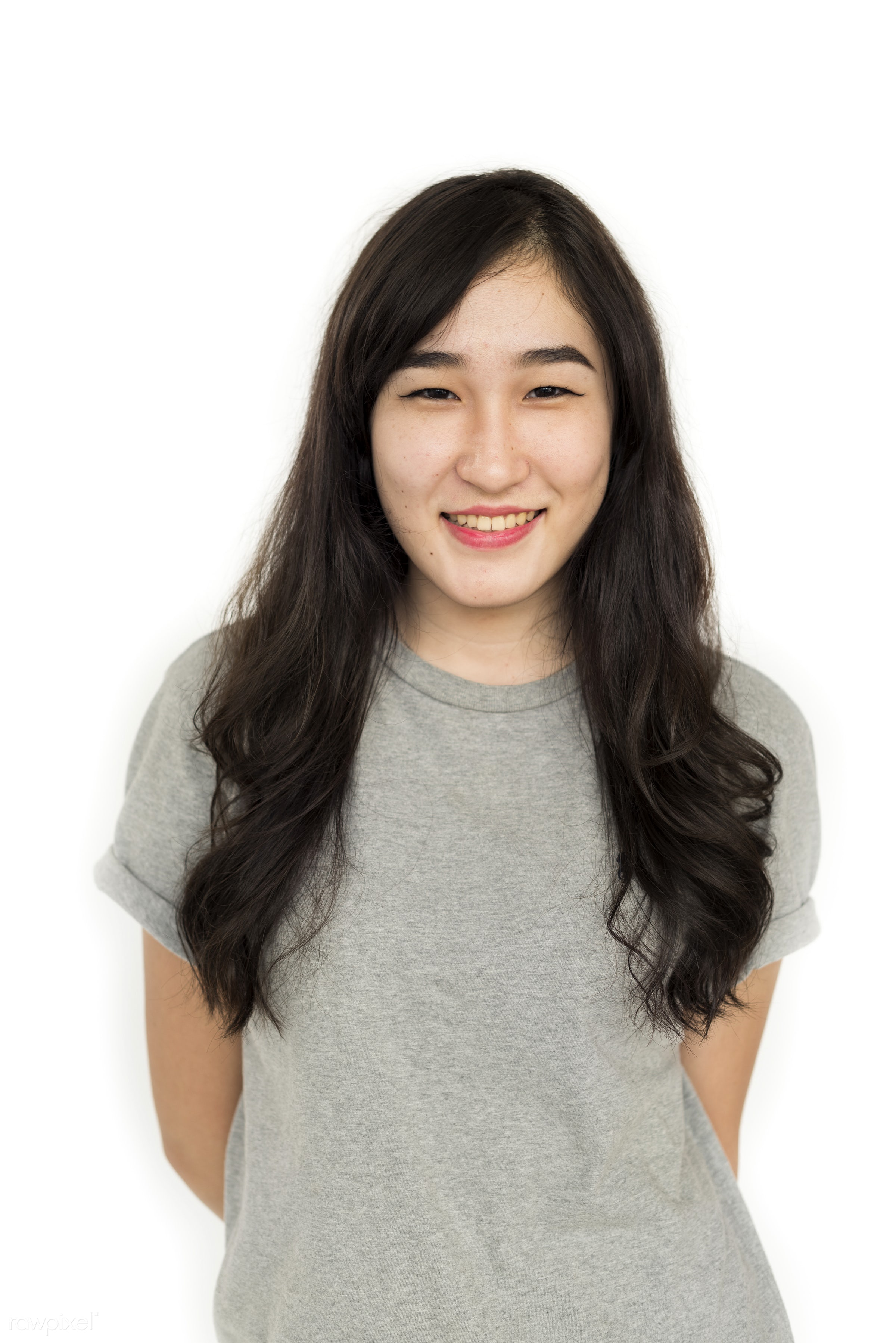 expression, studio, person, isolated on white, nice, people, asian ethnicity, woman, casual, cheerful, smiling, isolated,...