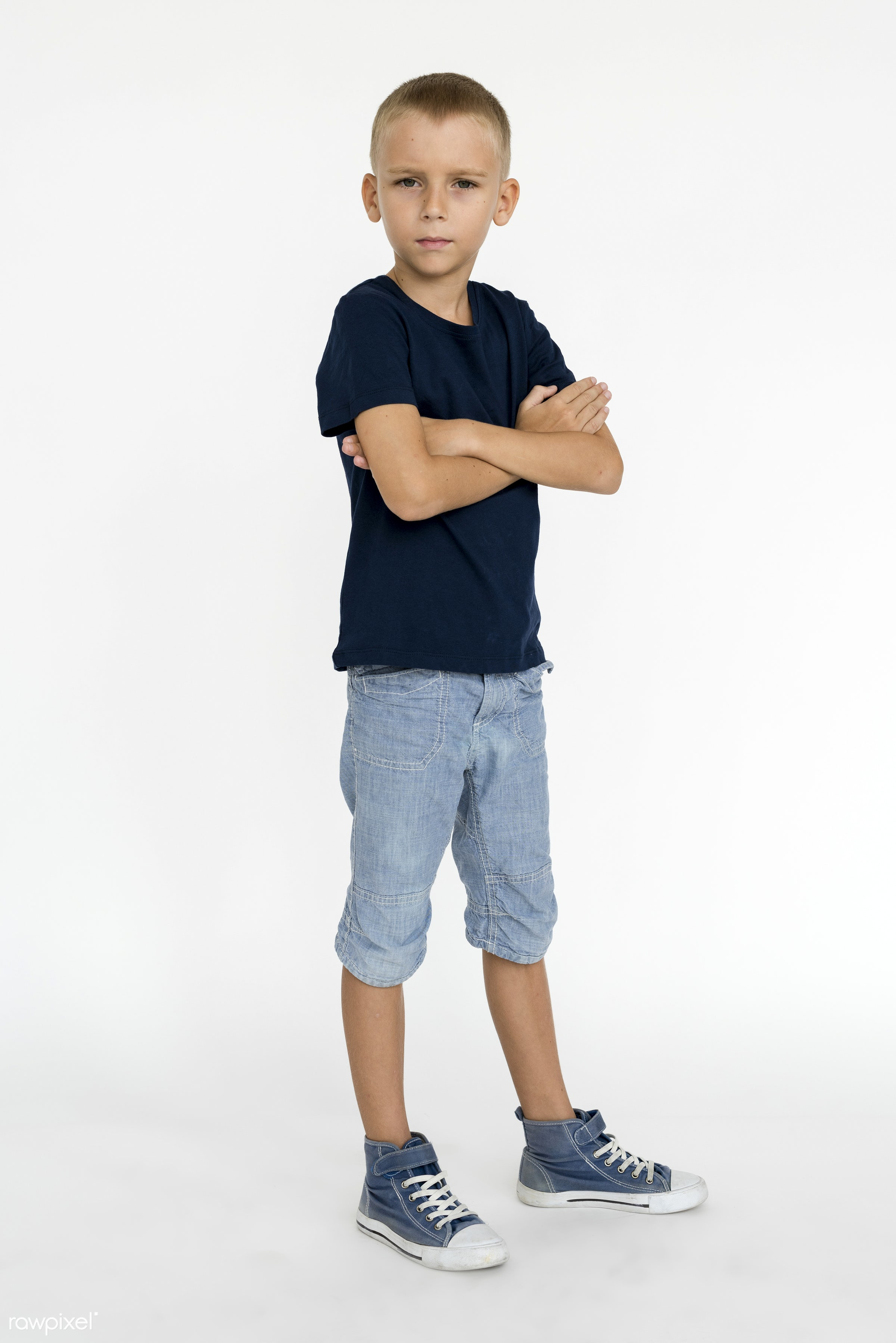 expression, studio, person, isolated on white, little, people, kid, caucasian, child, casual, serious, man, isolated, guy,...
