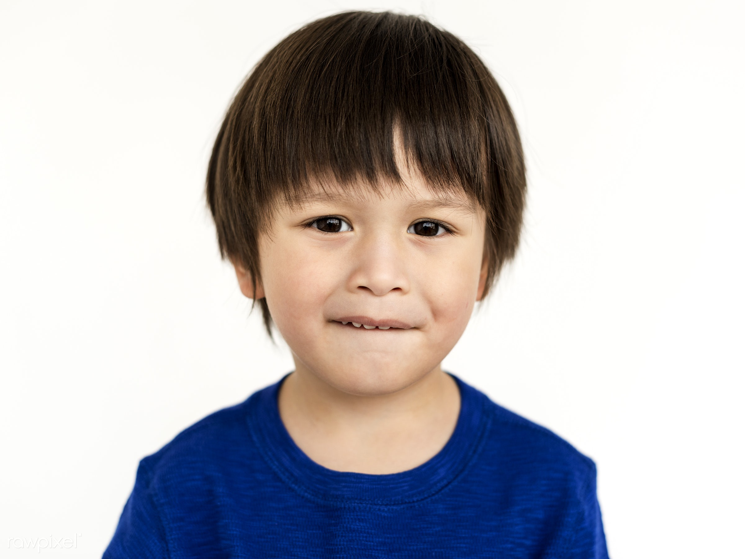 expression, studio, person, isolated on white, little, people, kid, child, asian ethnicity, casual, serious, man, isolated,...