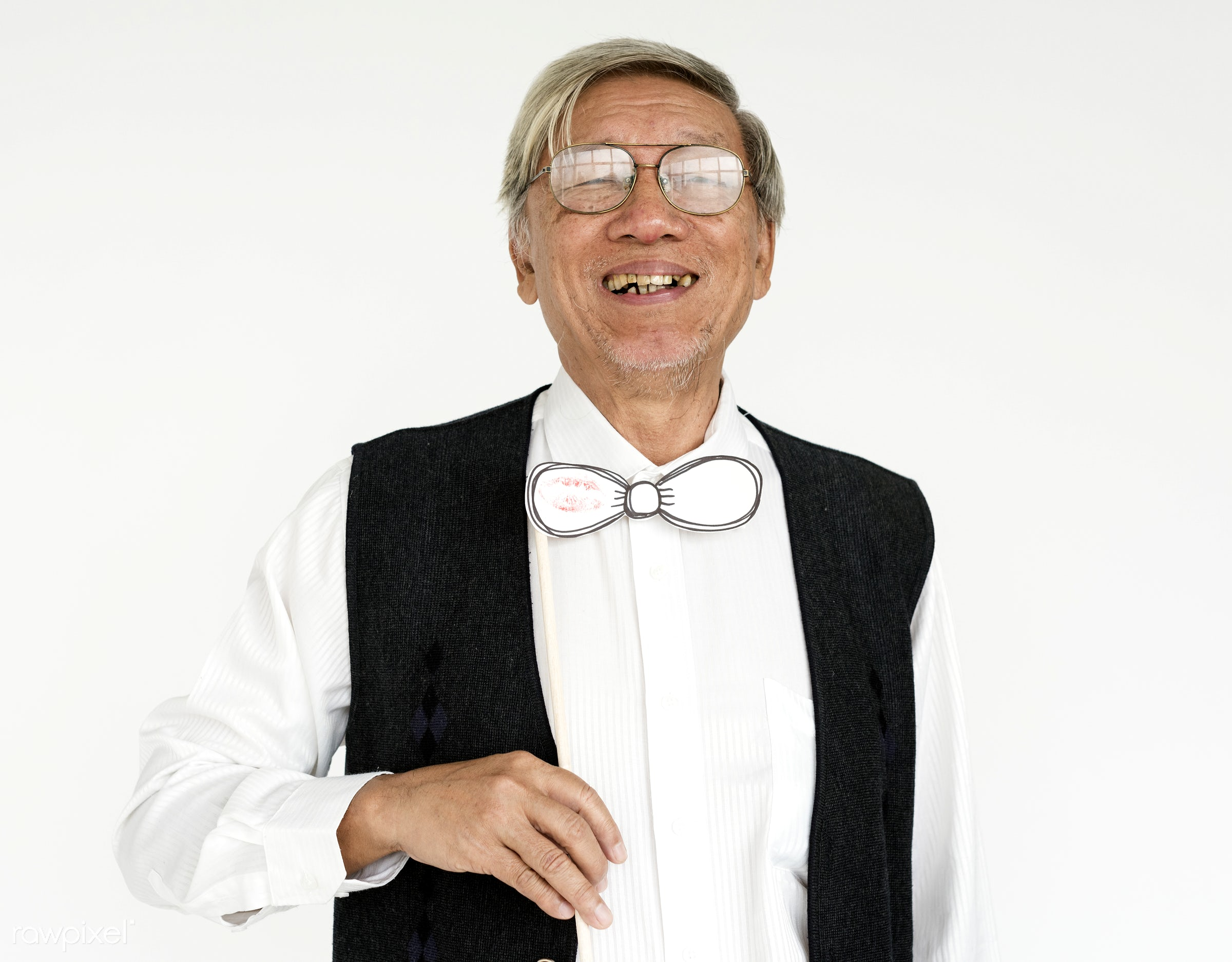 studio, expression, person, old, glasses, wise, isolated on white, people, business, asian ethnicity, happy, man, gentleman...