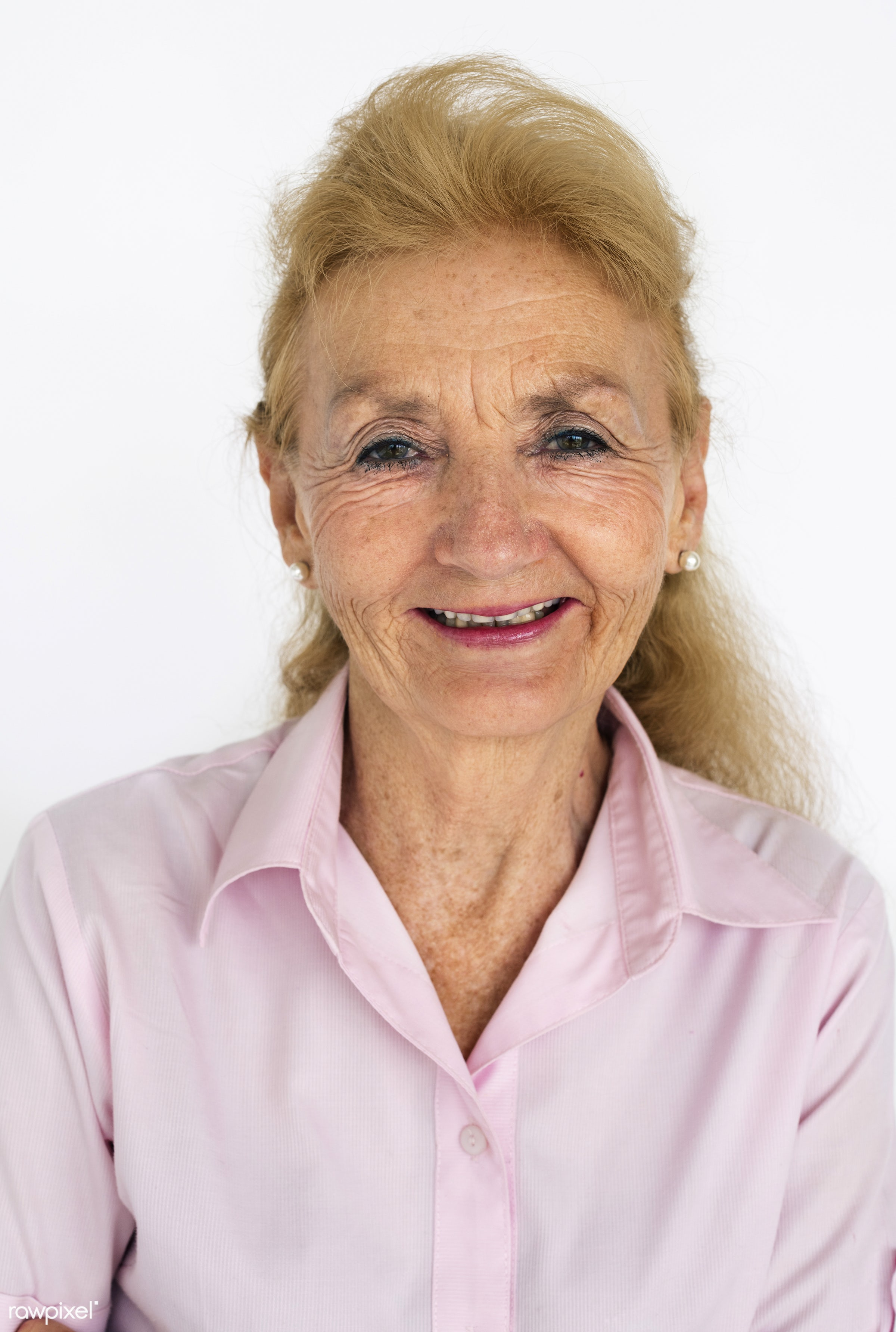 studio, expression, old, person, bright, caucasian, aged, retirement, relaxed, woman, lifestyle, positive, smile, alone,...