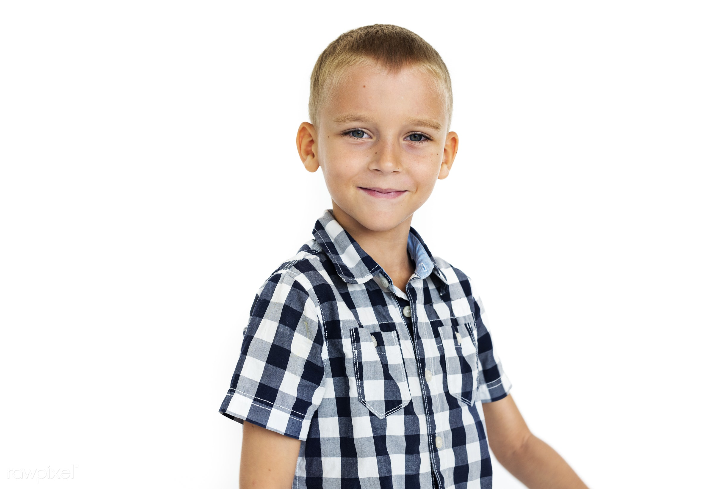 expression, studio, person, isolated on white, little, people, kid, child, casual, serious, man, isolated, guy, male, white...