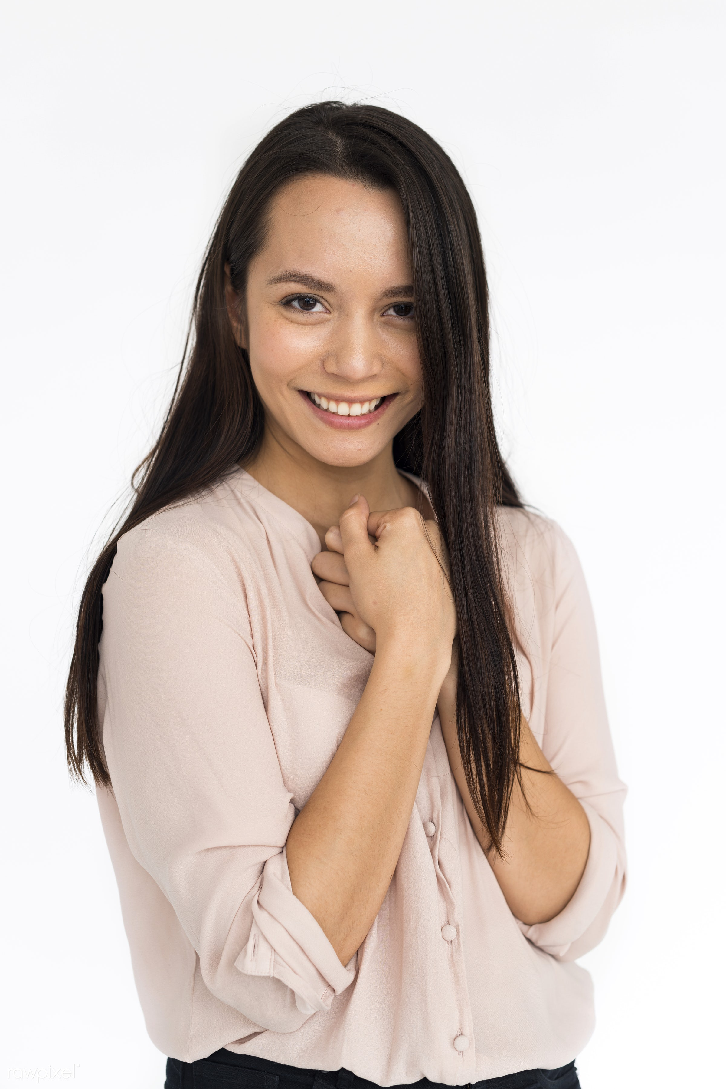 expression, studio, person, bright, caucasian, woman, relaxed, lifestyle, positive, smile, cheerful, alone, happiness,...