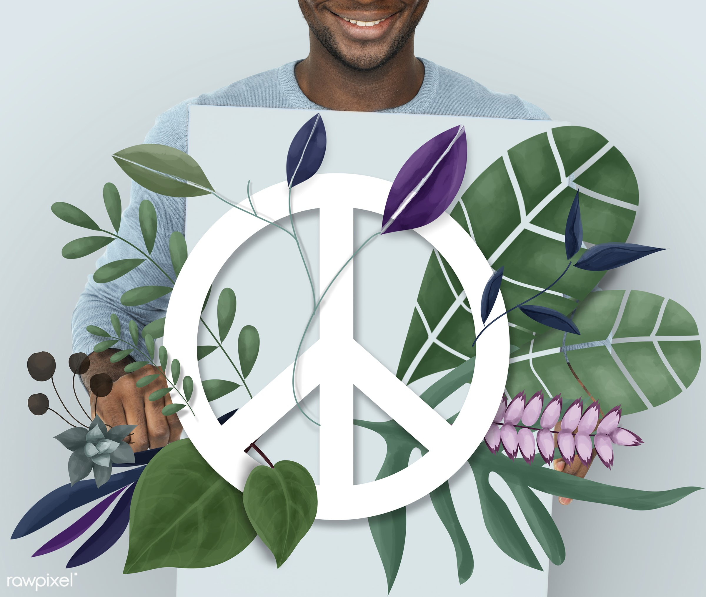 Peace Freedom Happiness High Spiritual - environment, peace, hope, face, person, world, adult, african american, candid,...
