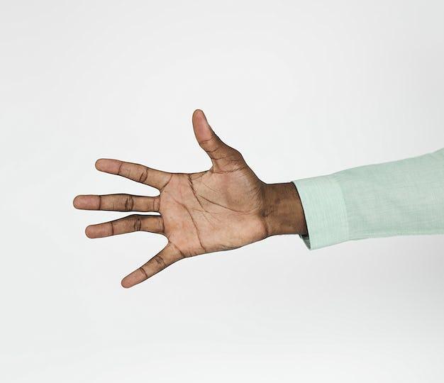 Human Hand Sign Body Language Concept