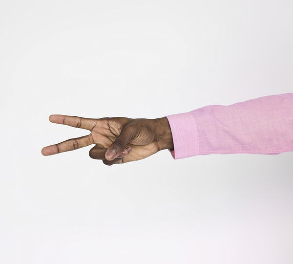 Human Hand Sign Body Language Peace Concept