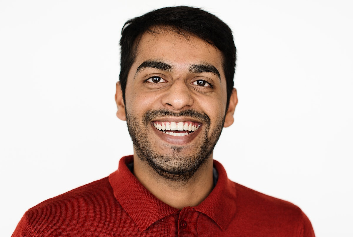Worldface-Pakistani guy in a white background