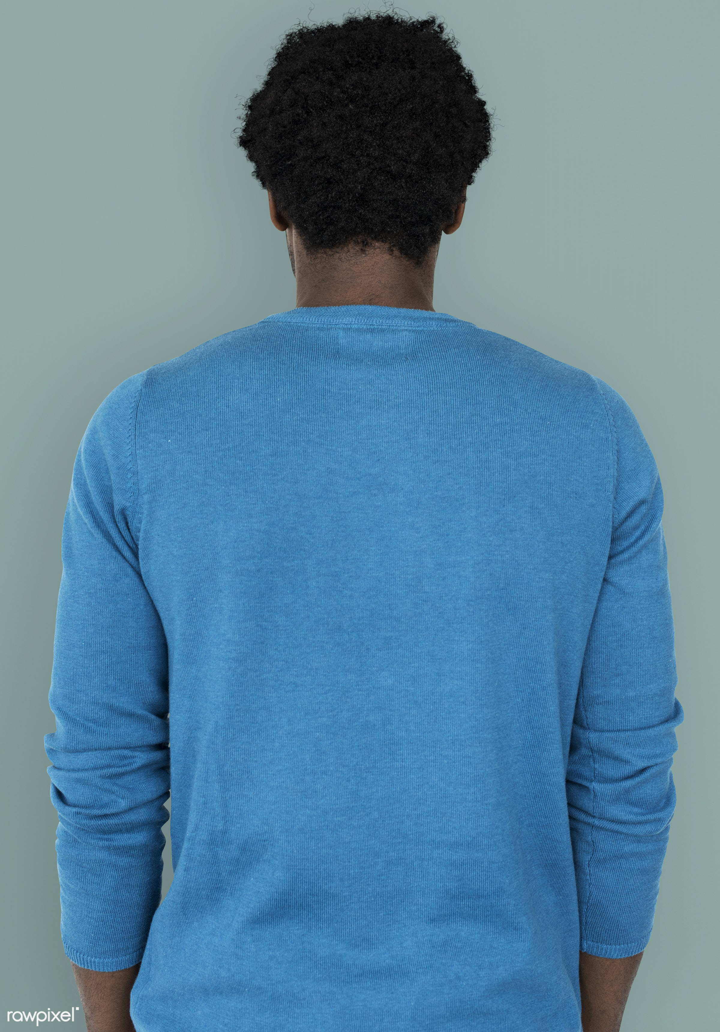 studio, decent, person, emotionless, people, back shot, back view, back facing, man, black, isolated, guy, african descent,...