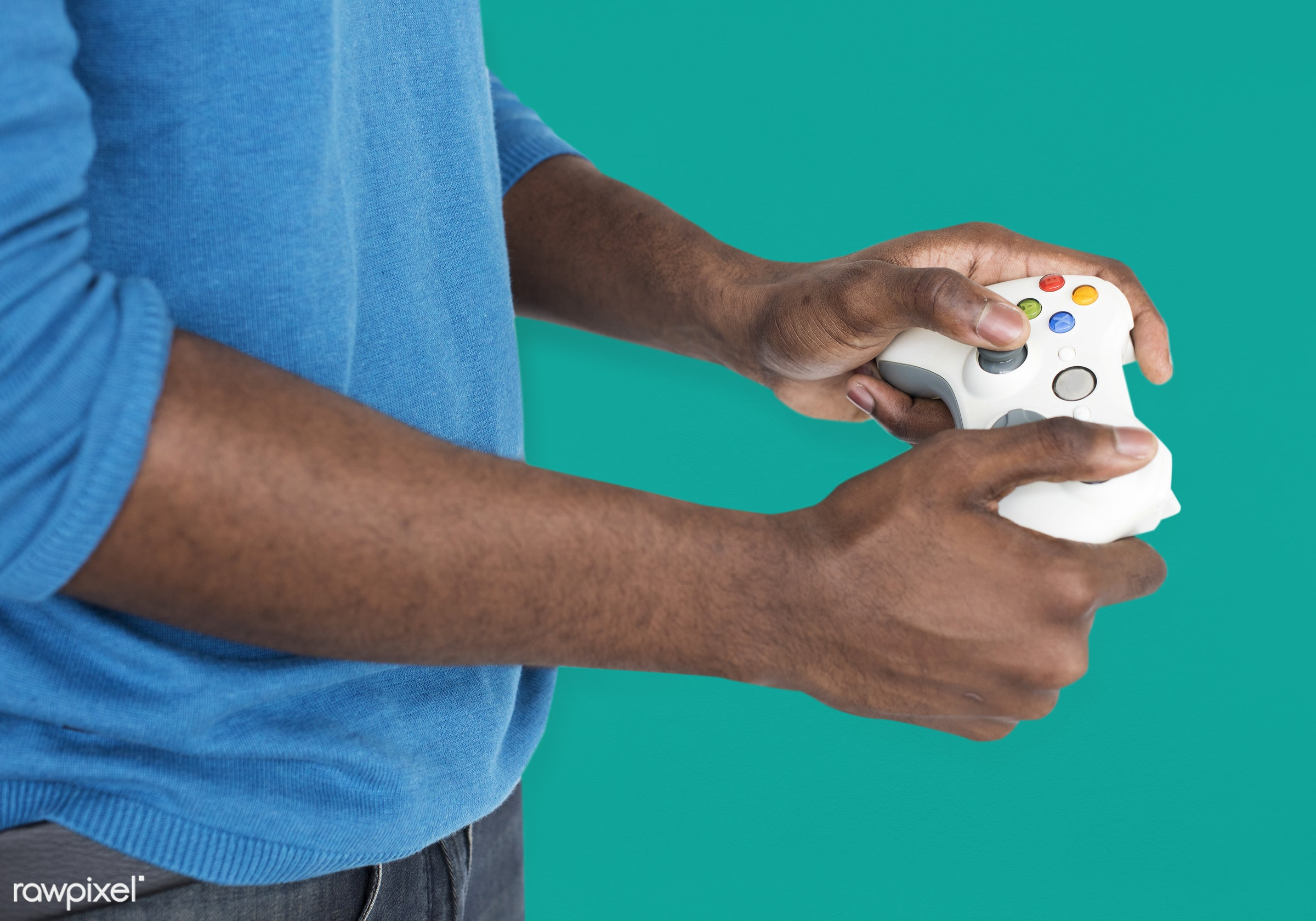 expression, person, technology, gaming, recreation, people, man, activity, black, isolated, joystick, connection, game...