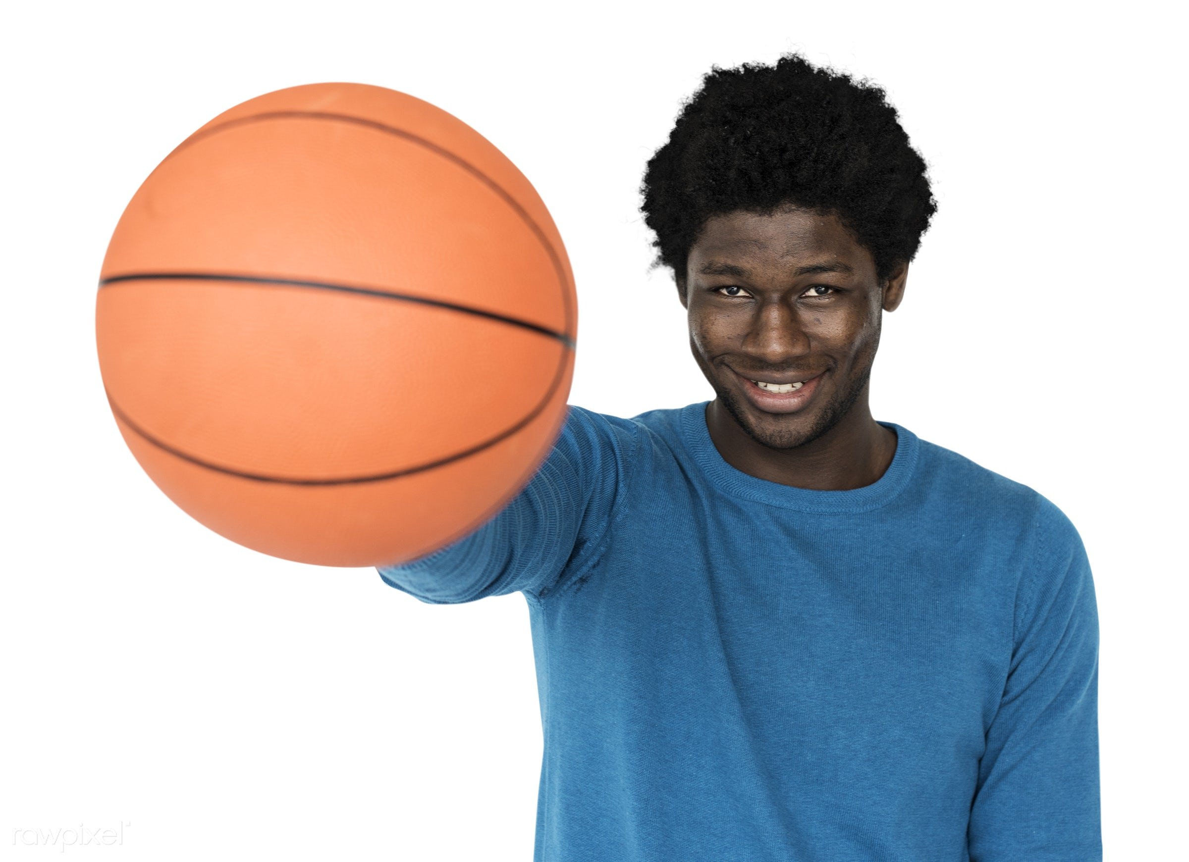 expression, basketball, person, player, isolated on white, recreation, people, training, man, activity, athlete, black,...