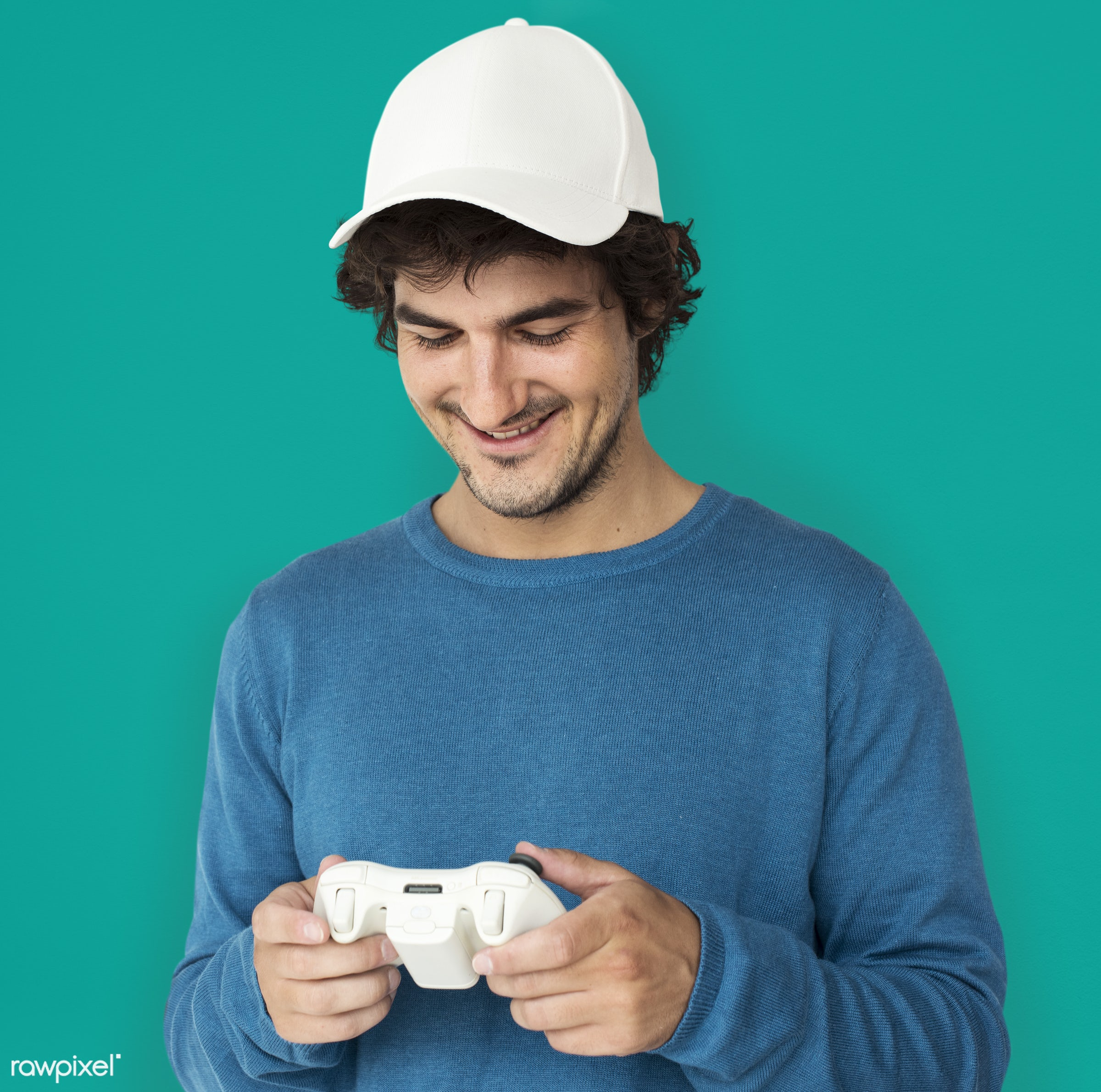 expression, person, technology, gaming, recreation, race, people, caucasian, westerner, man, activity, isolated, joystick,...