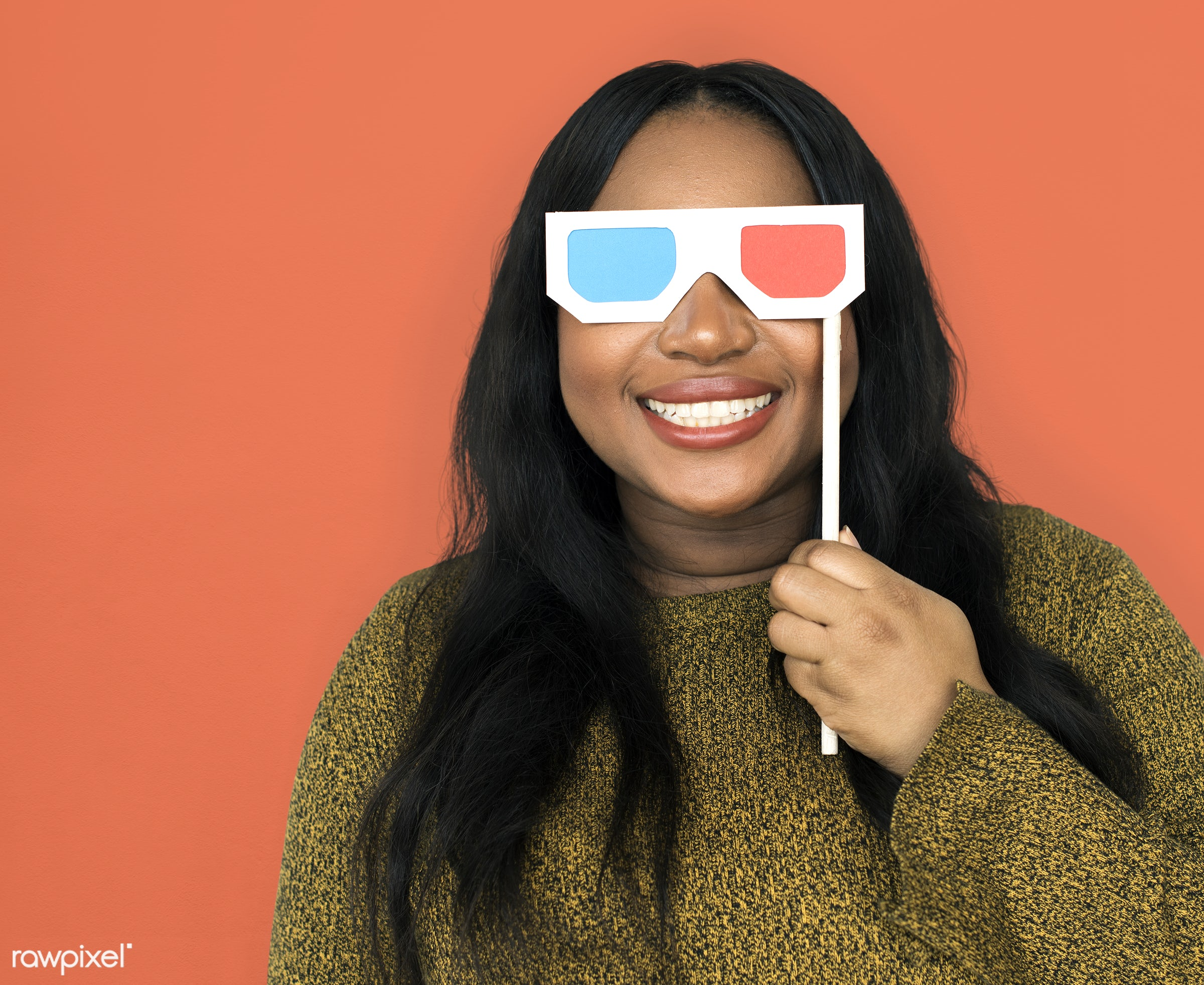 expression, person, recreation, people, race, three dimensional, 3-d glasses, woman, black, 3d blue ray, activity, isolated...