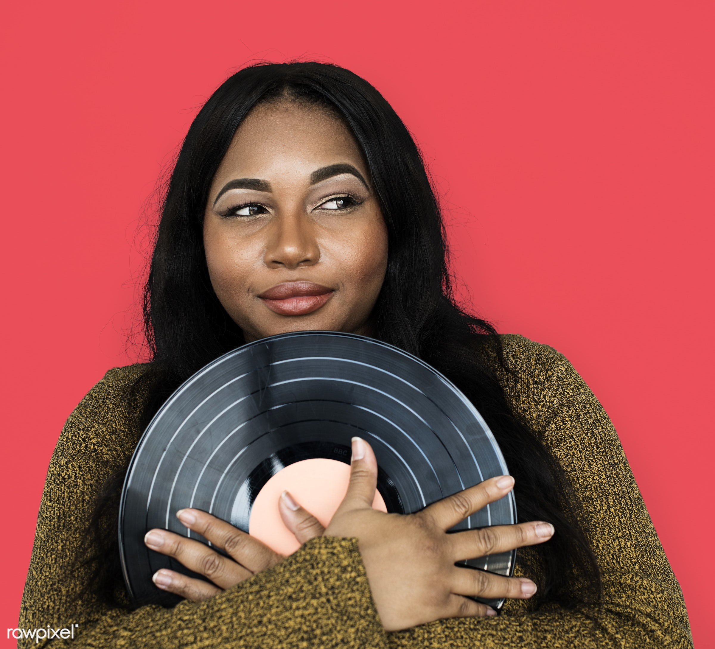 expression, person, retro, recreation, people, race, disc, ancient, woman, vinyl, activity, black, music, isolated, vintage...