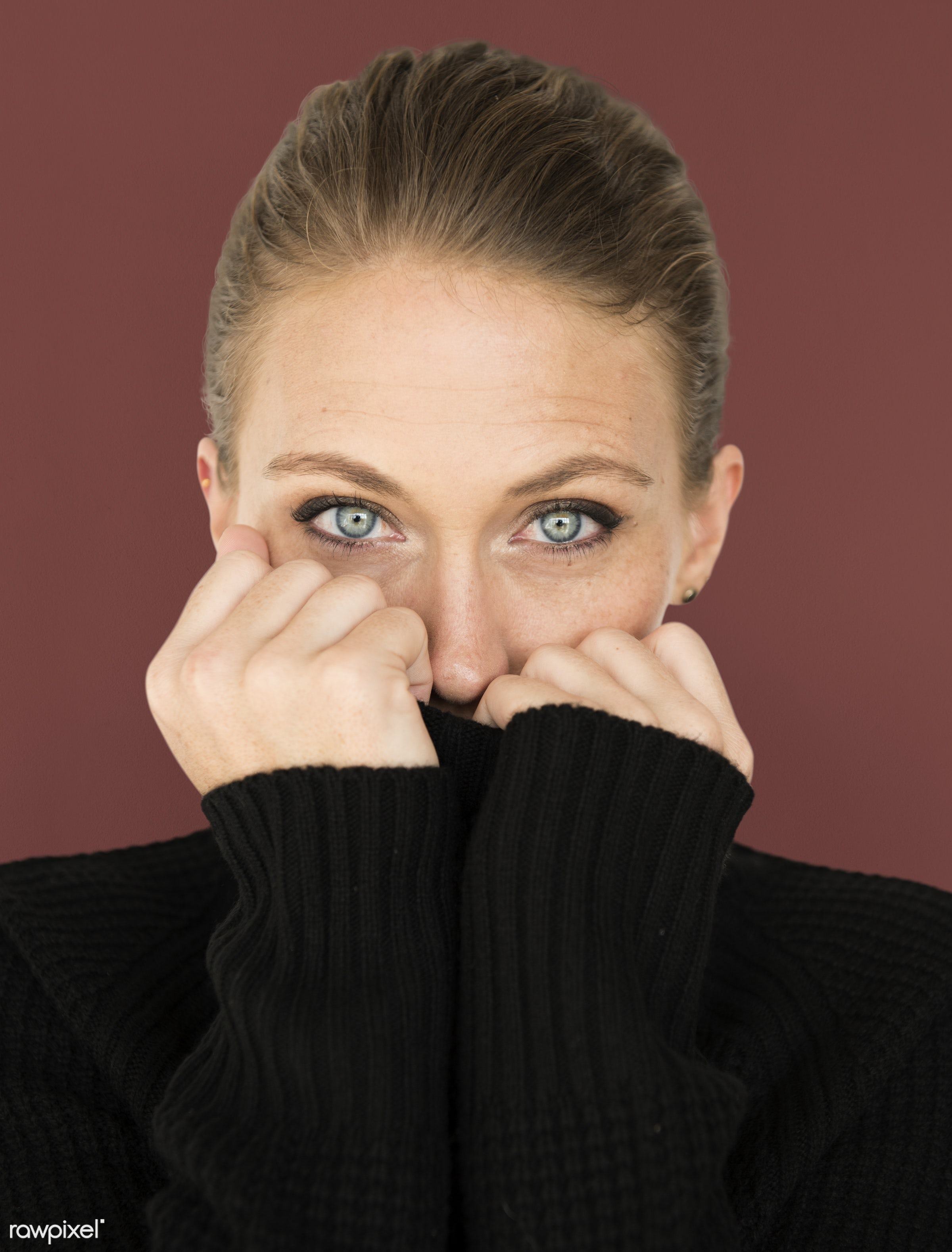 adult, background, beauty, brown, cardigan, casual, charming, cold, cute, emotion, emotional, expression, face, female, girl...