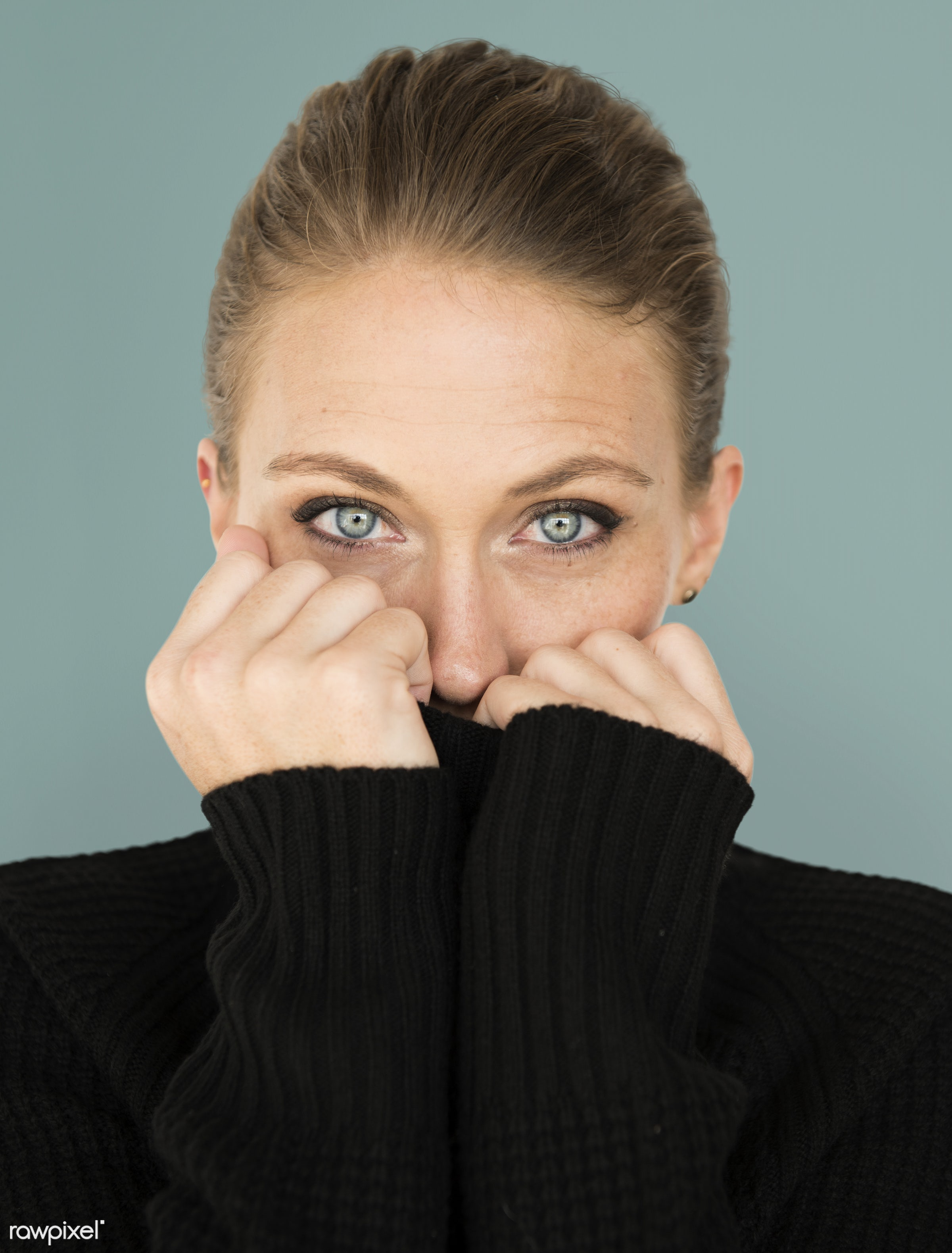 adult, background, beauty, cardigan, casual, charming, cold, cute, emotion, emotional, expression, face, female, girl, green...