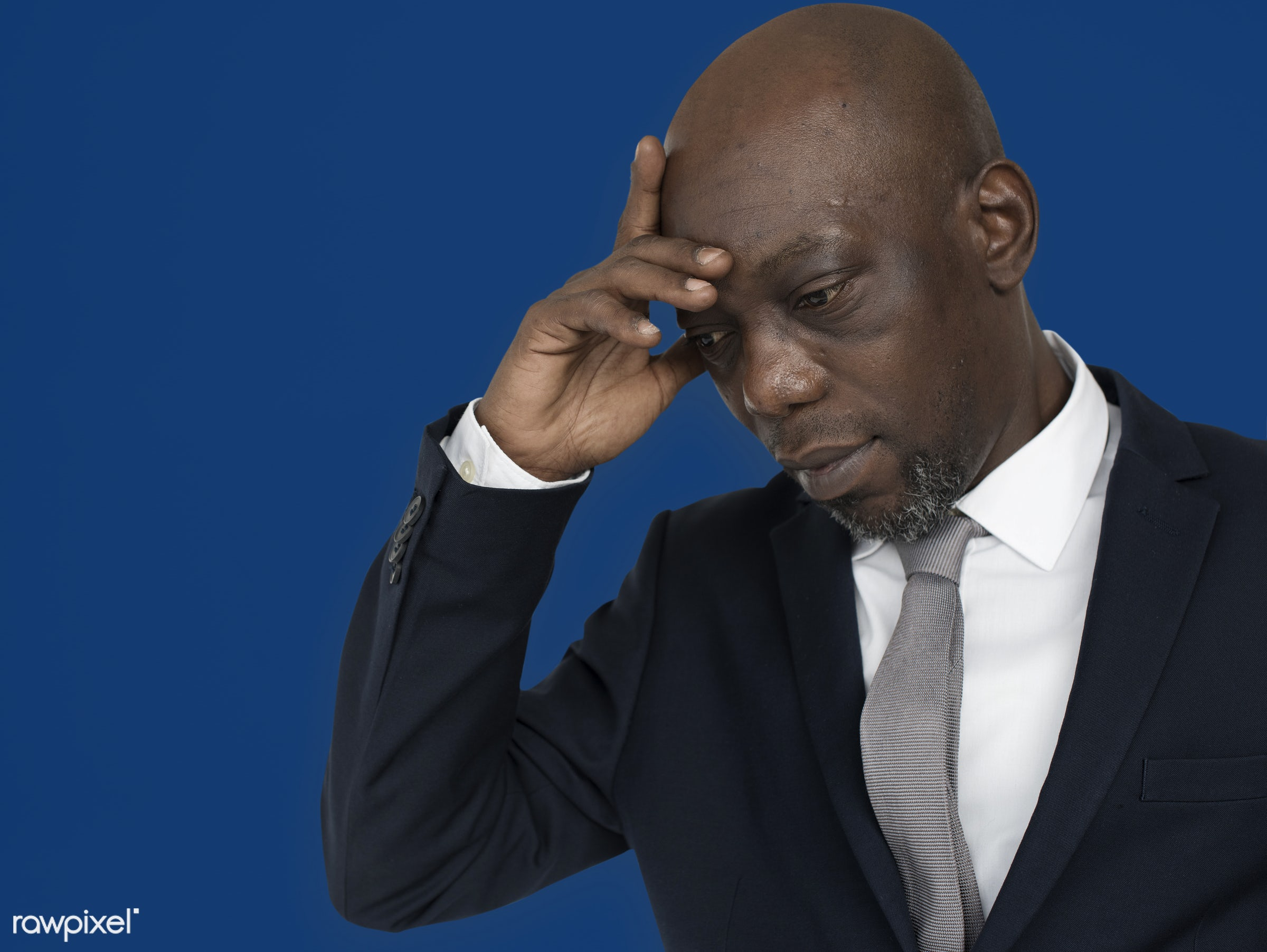 black, african, african american, man, male, professional, suit, tie, portrait, thinking, think