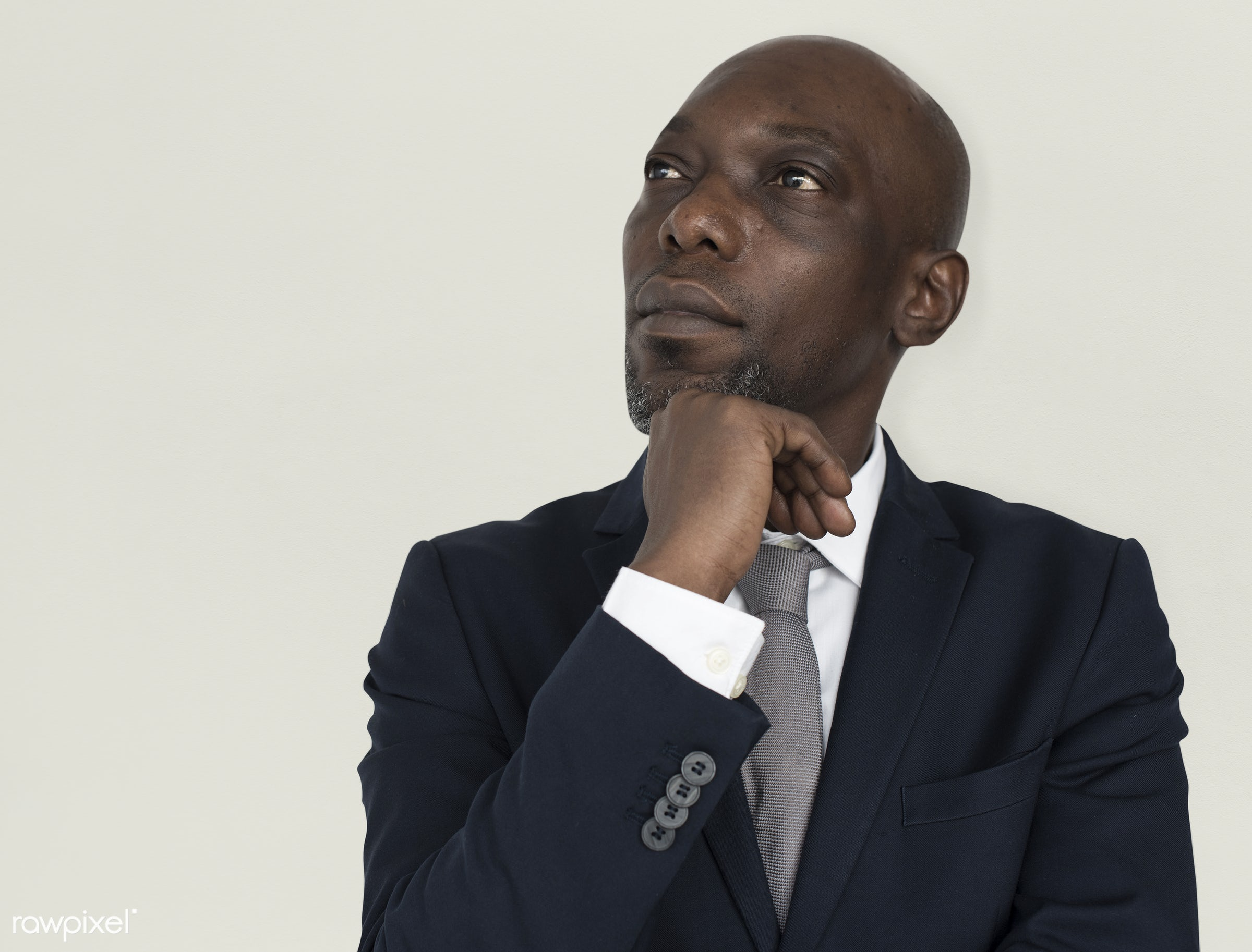 blakc, african, african american, tie, think, black, male, man, thinking, professional, business, bussinessman