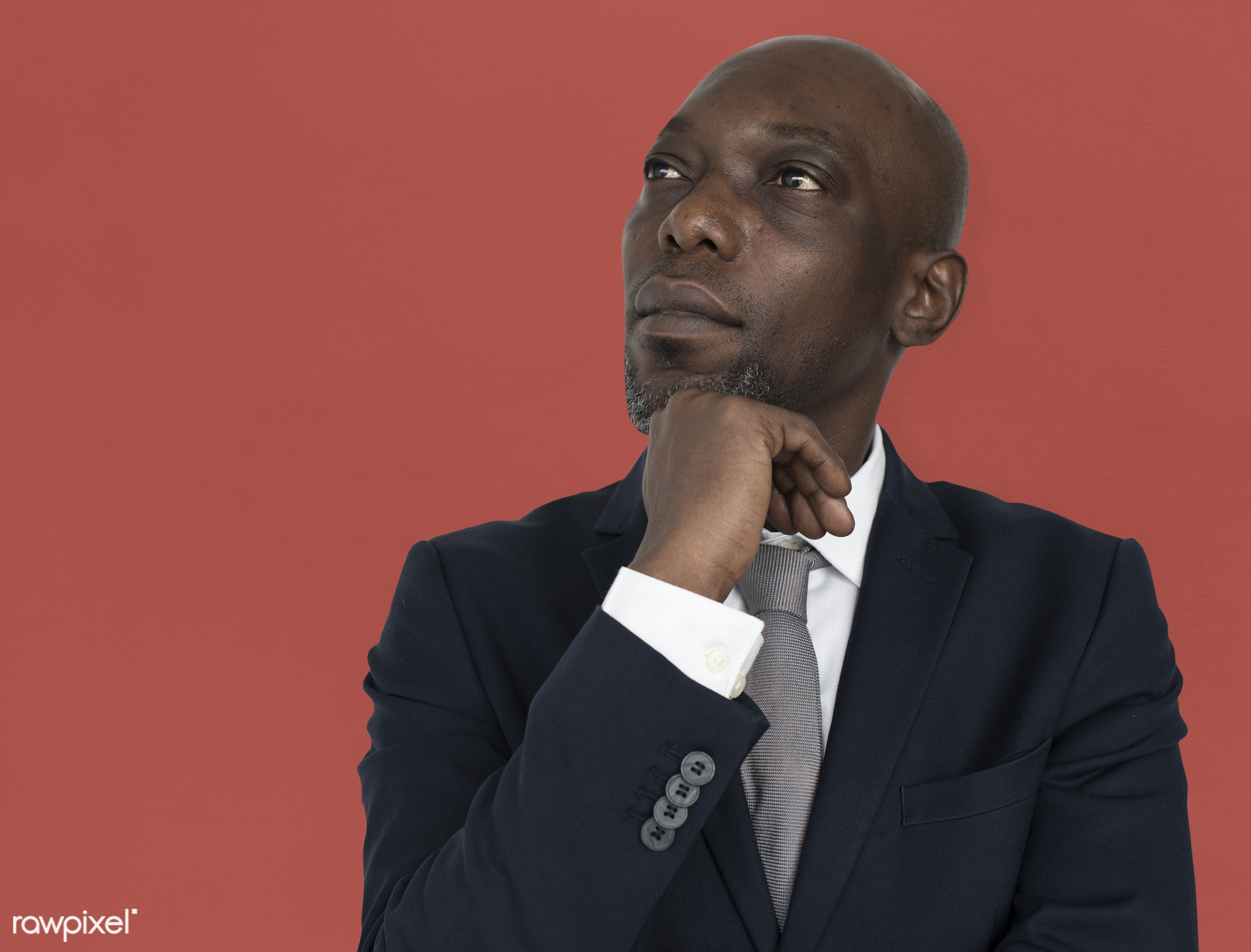 black, african, suit, tie, professional, thinking, think, african american, male, man, business, bussinessman