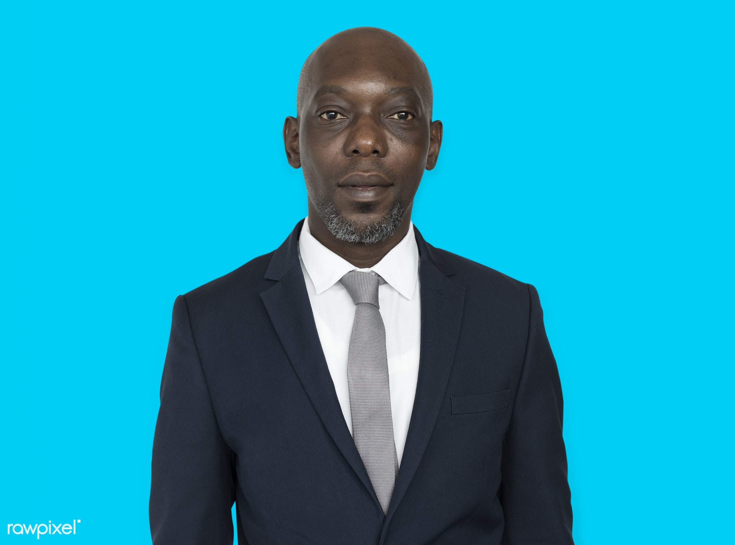african, african american, black, business, colorful, colourful, man, professional, start up, suit, blue background, tie