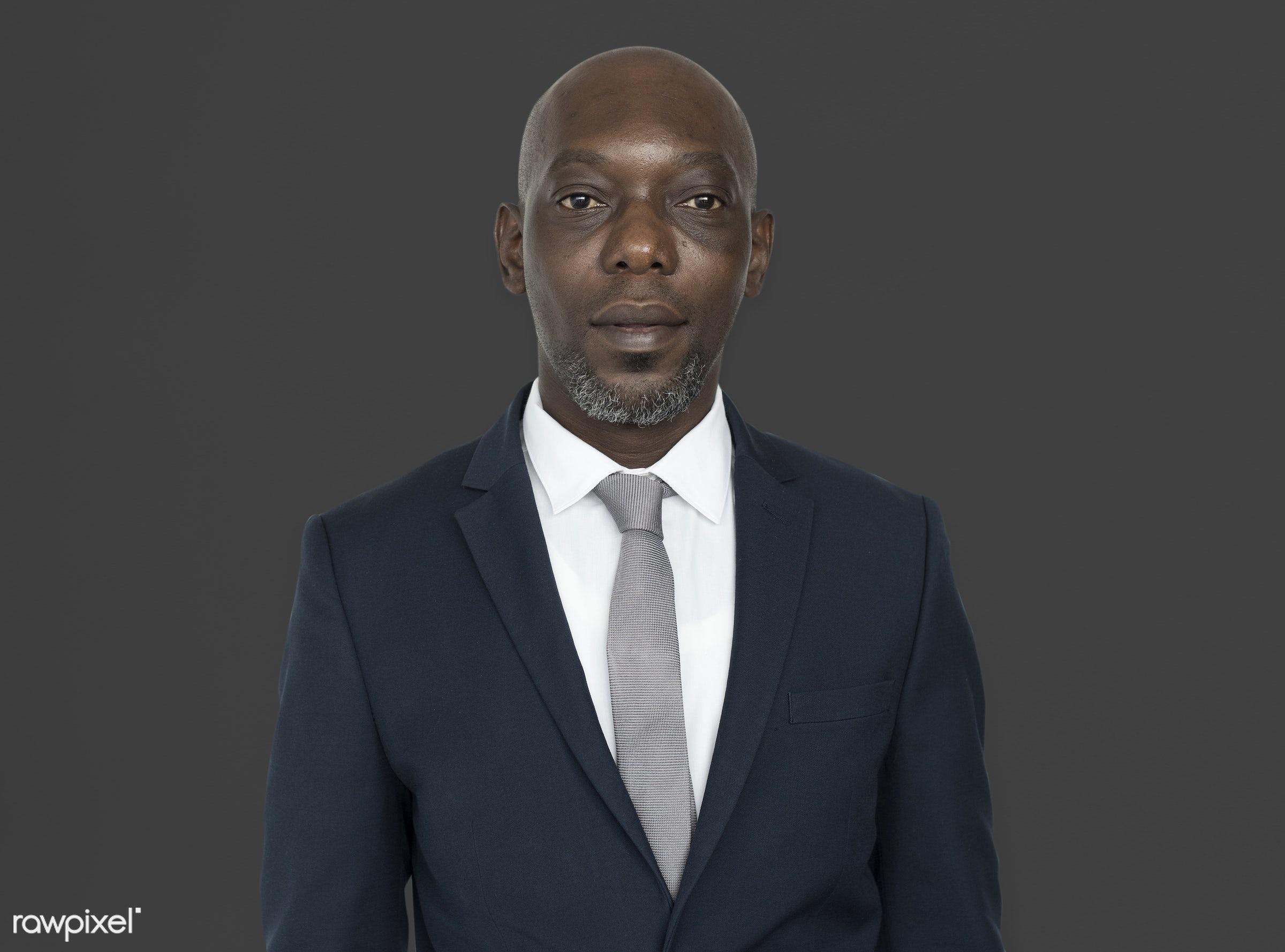 black, african, man, african american, portrait, suit, tie, professional, start up, business