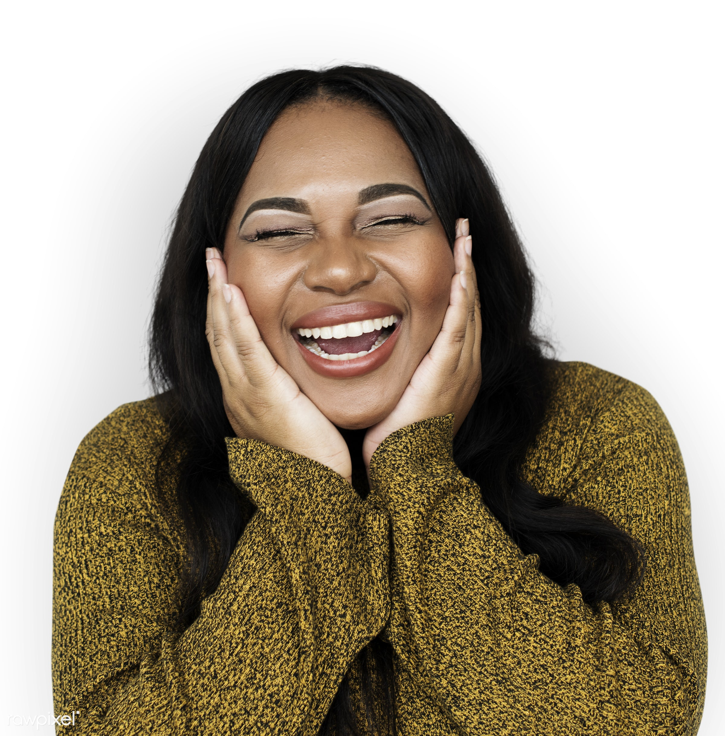 studio, expression, model, person, freedom, african ethnicity, relax, isolated on white, chubby, optimistic, people,...