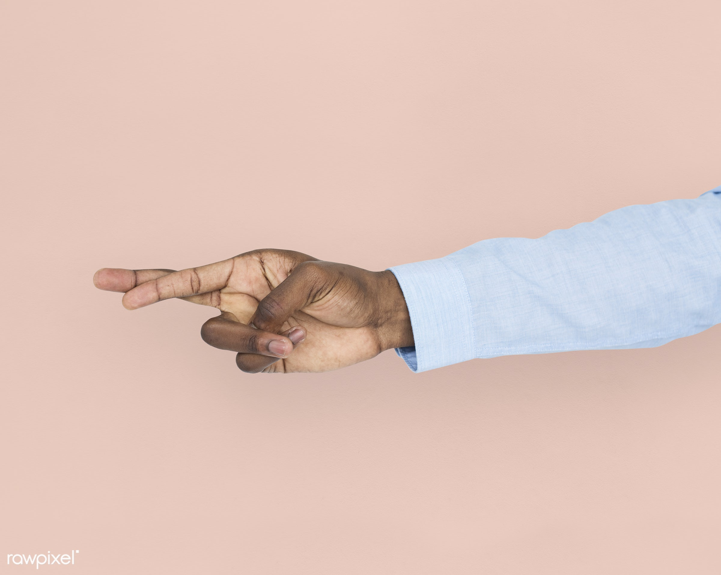 person, cut-out, race, hand, untruth, dishonesty, showing, isolated, african descent, luck, gesture, finger, fingers crossed...