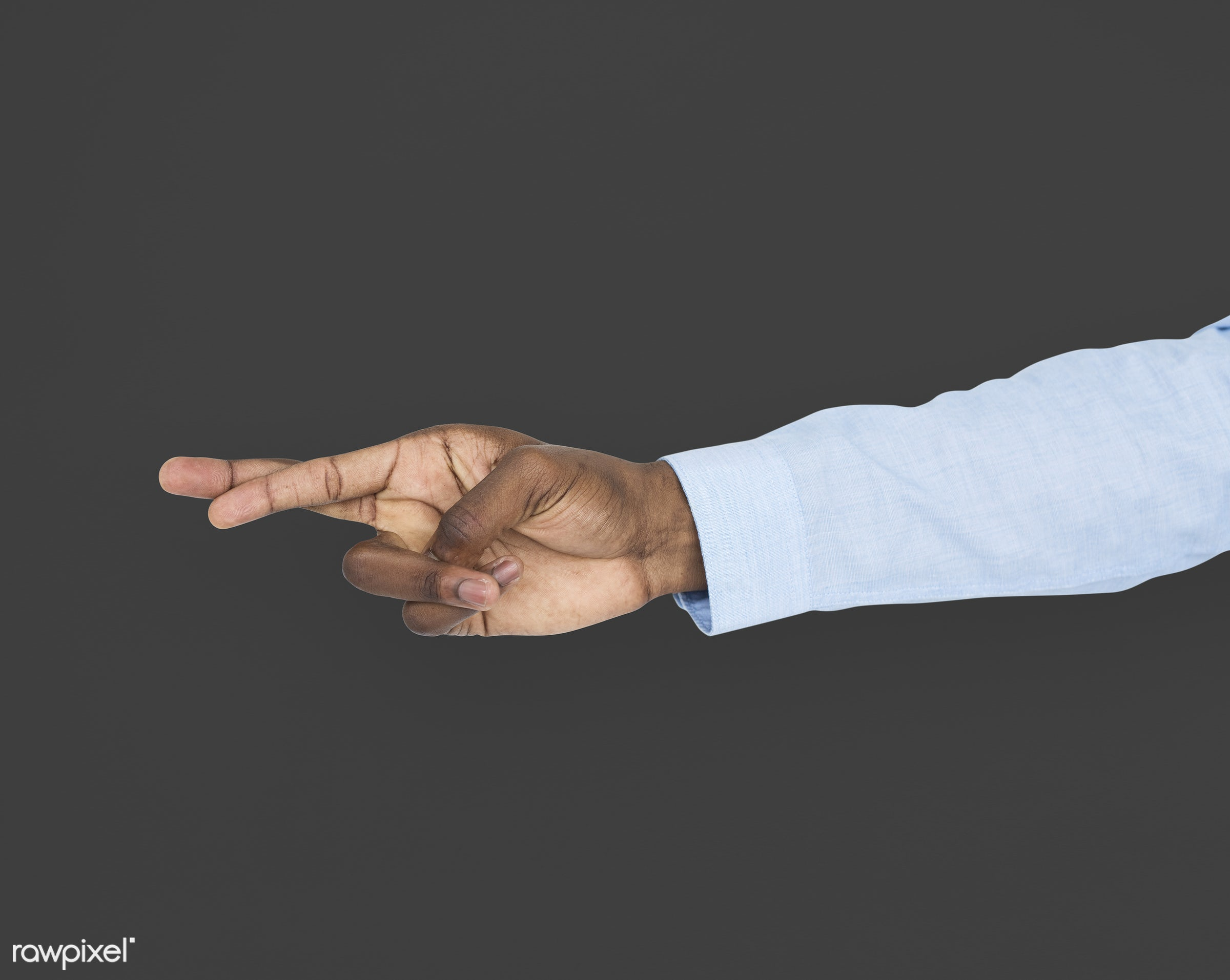 person, cut-out, race, hand, untruth, dishonesty, showing, black, isolated, african descent, luck, gesture, finger, fingers...