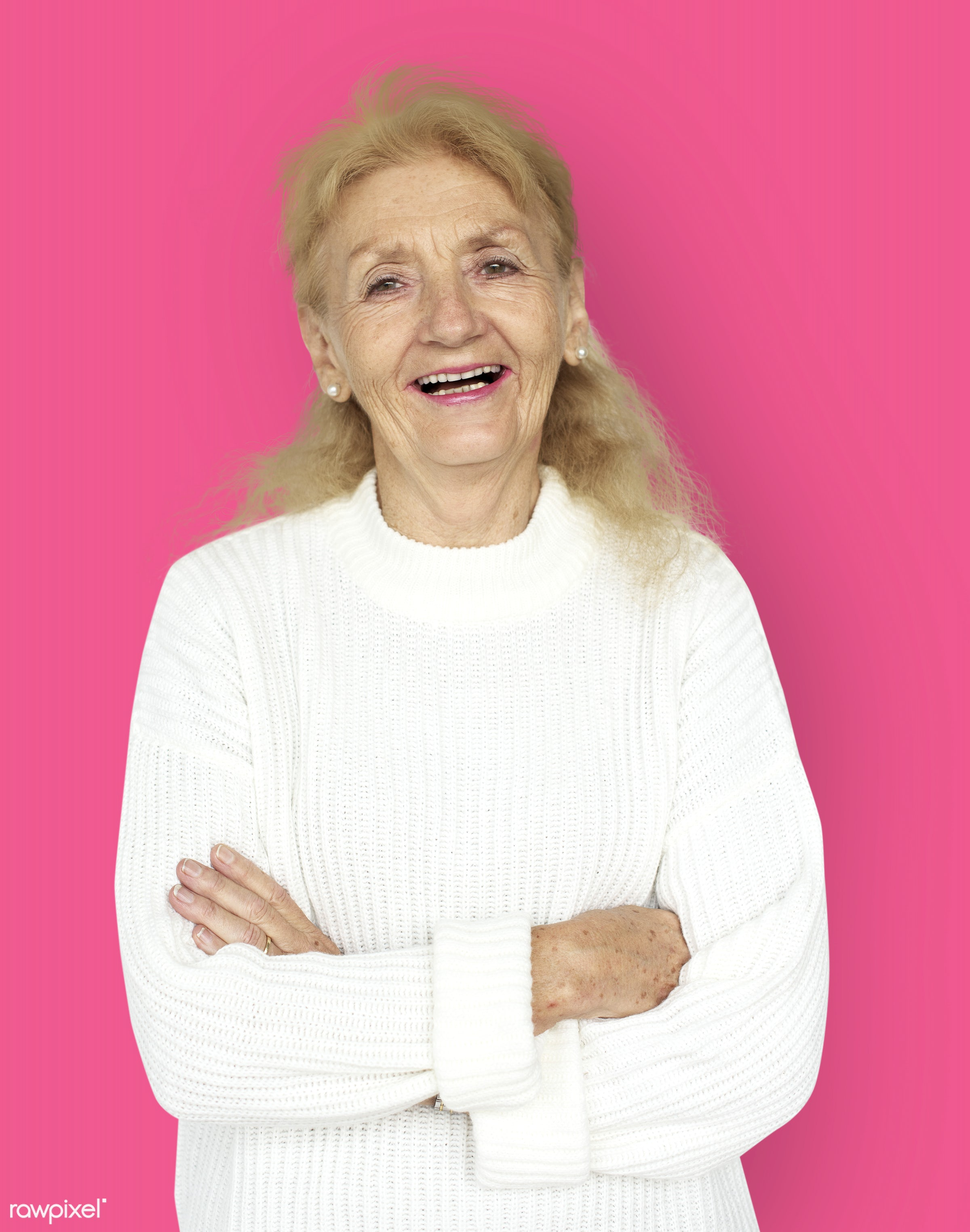 expression, studio, person, freedom, relax, people, caucasian, retirement, woman, lifestyle, pink, westerner, positive,...