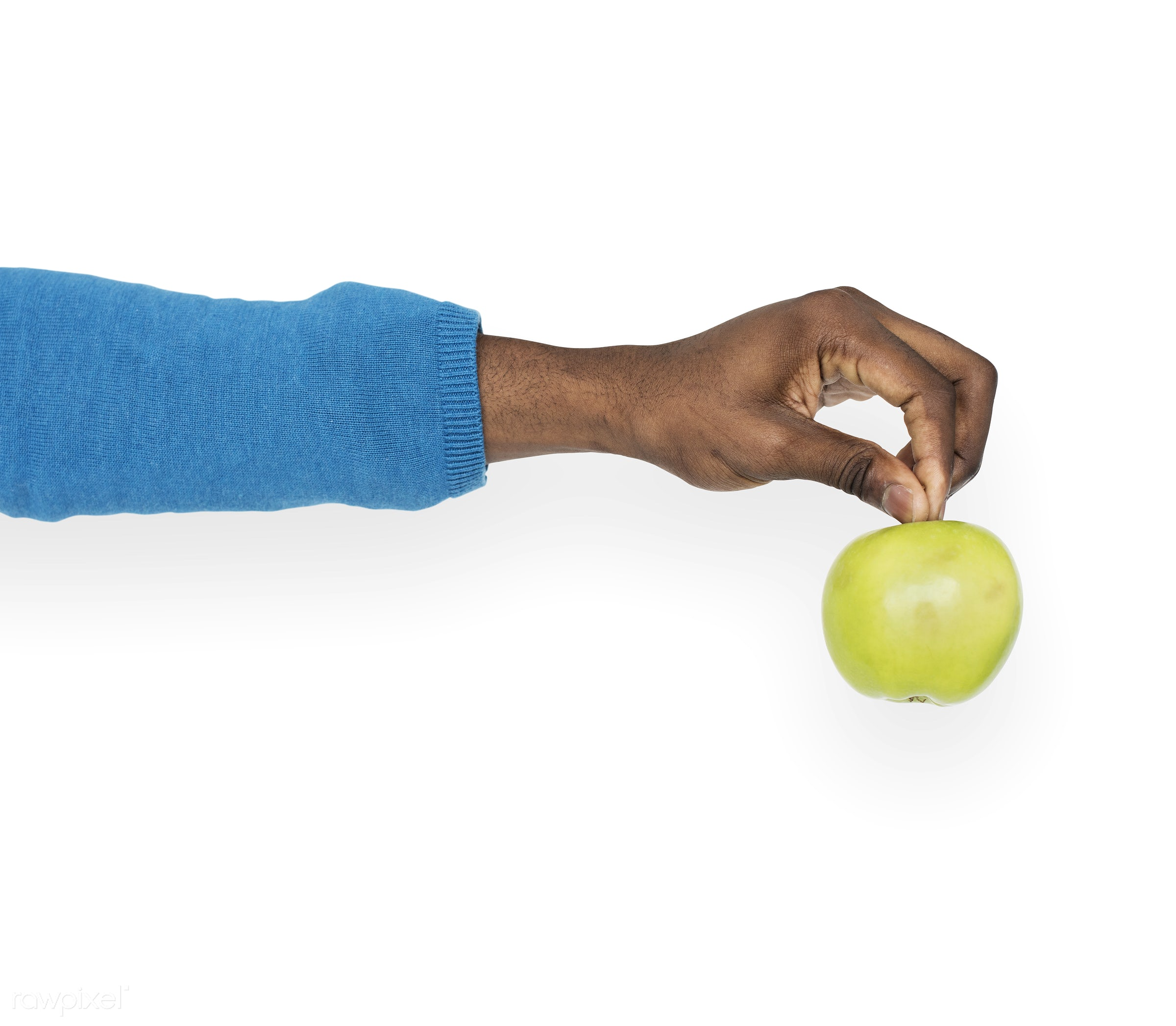 person, diet, isolated on white, race, hand, nature, wellness, lifestyle, showing, isolated, fruit, african descent, gesture...