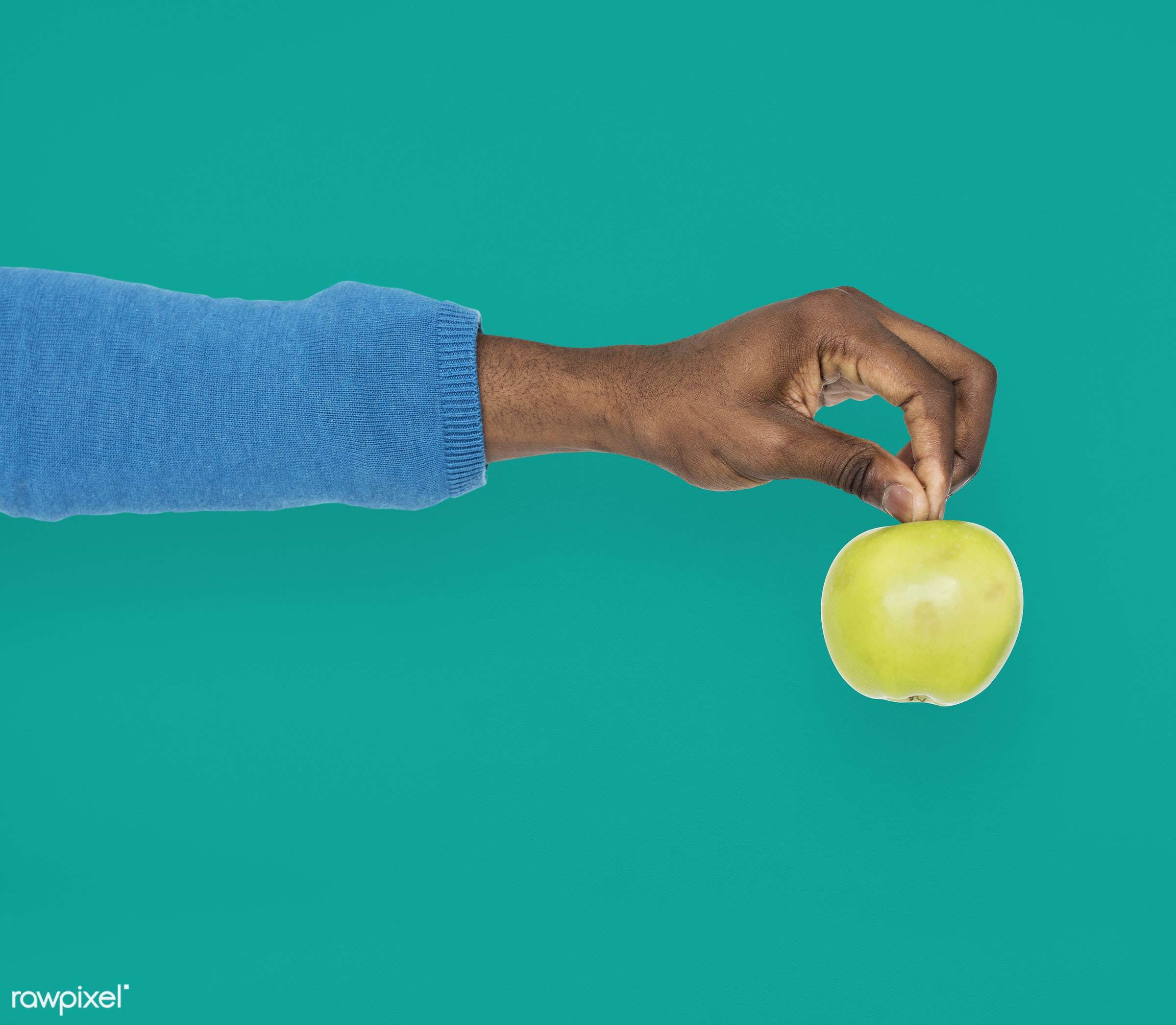 person, diet, race, hand, nature, wellness, lifestyle, showing, isolated, fruit, african descent, green, gesture, human,...
