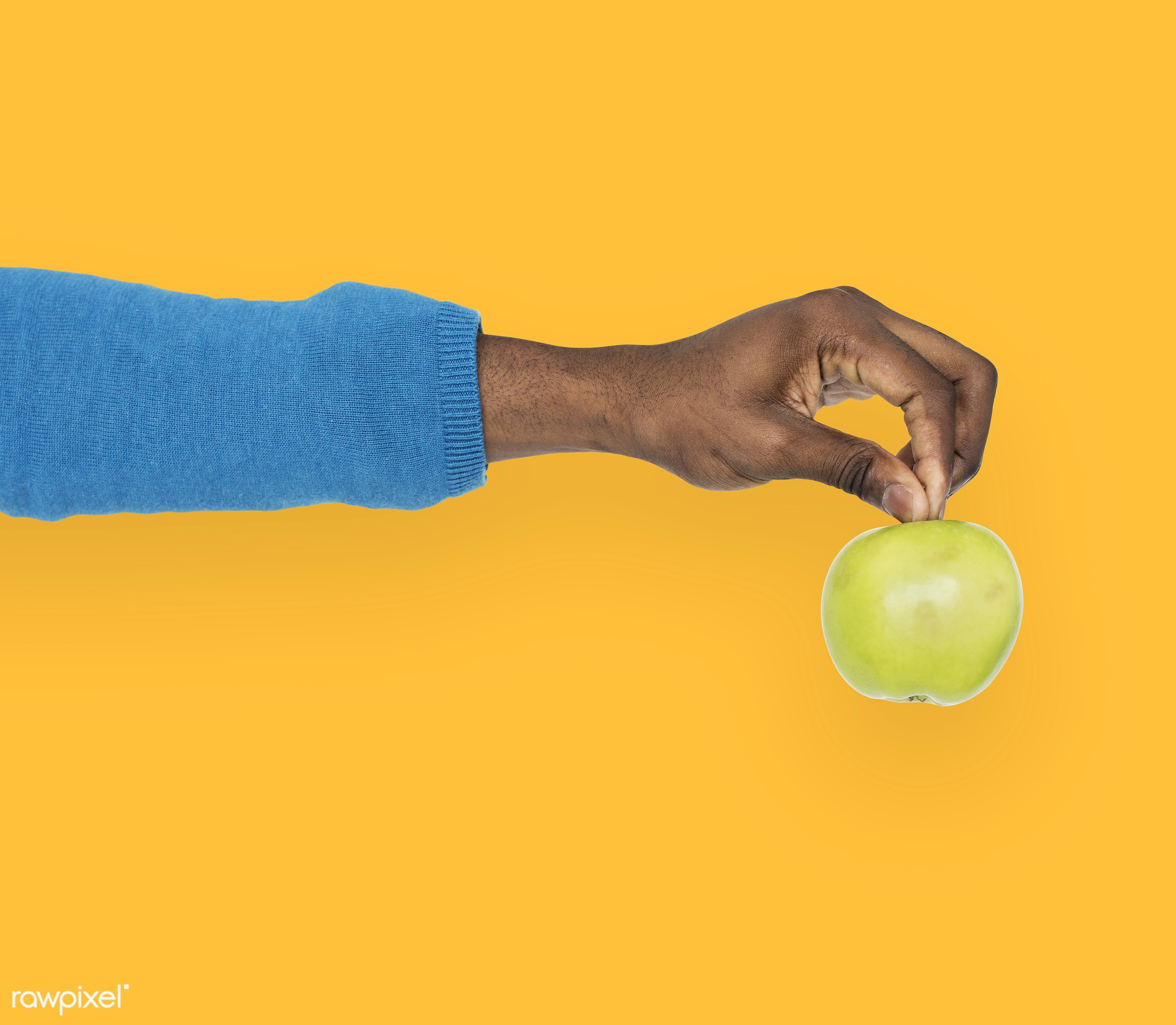 person, diet, yellow, race, hand, nature, wellness, lifestyle, showing, isolated, fruit, african descent, gesture, human,...