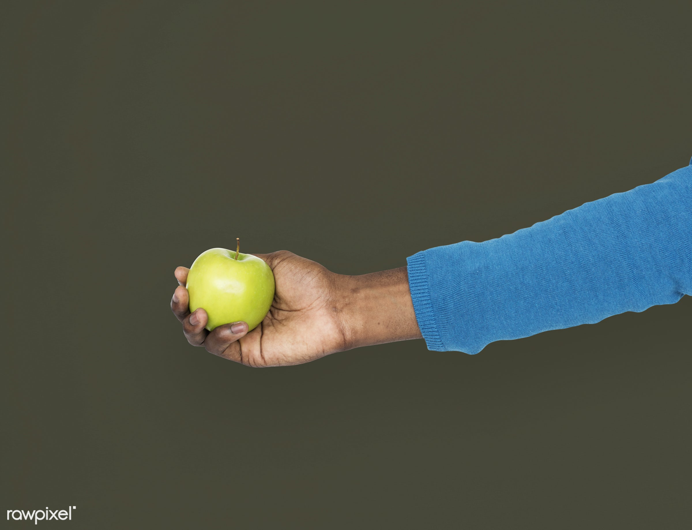 person, diet, race, hand, nature, wellness, lifestyle, showing, isolated, fruit, african descent, gesture, human, healthy...