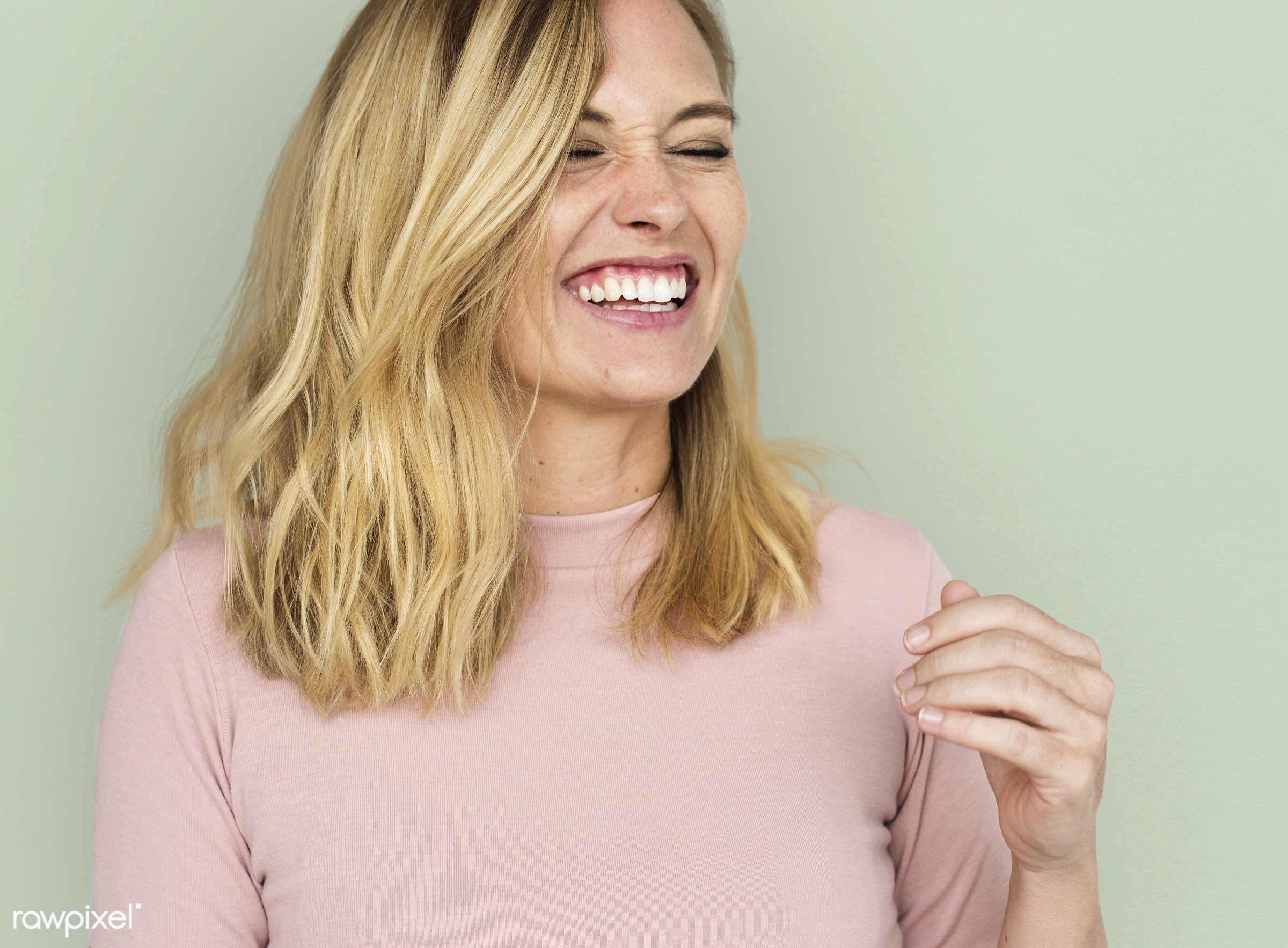 studio, expression, person, model, freedom, relax, optimistic, people, caucasian, laughing, woman, casual, lifestyle,...