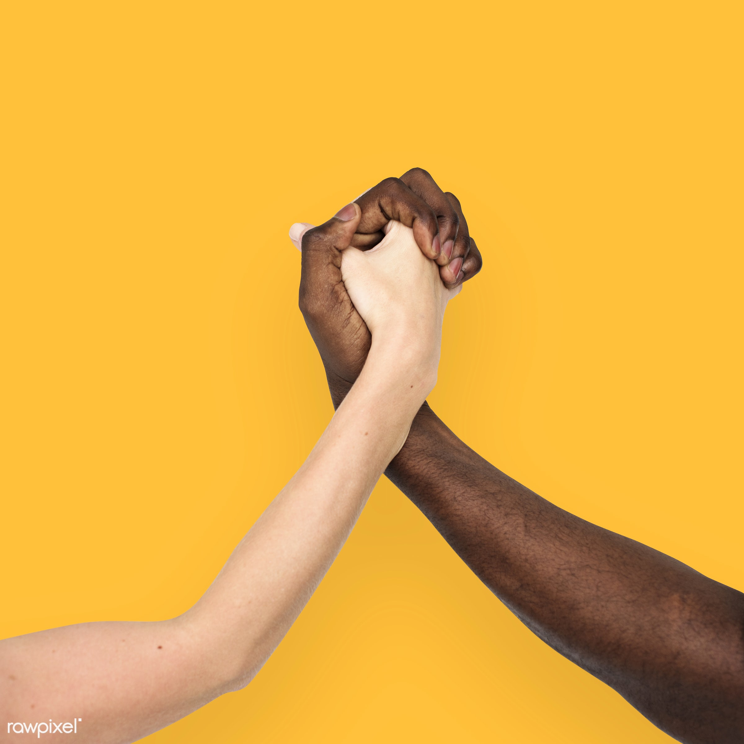 person, yellow, holding hand, race, caucasian, hand, woman, integration, friendship, showing, partner, couple, man, isolated...