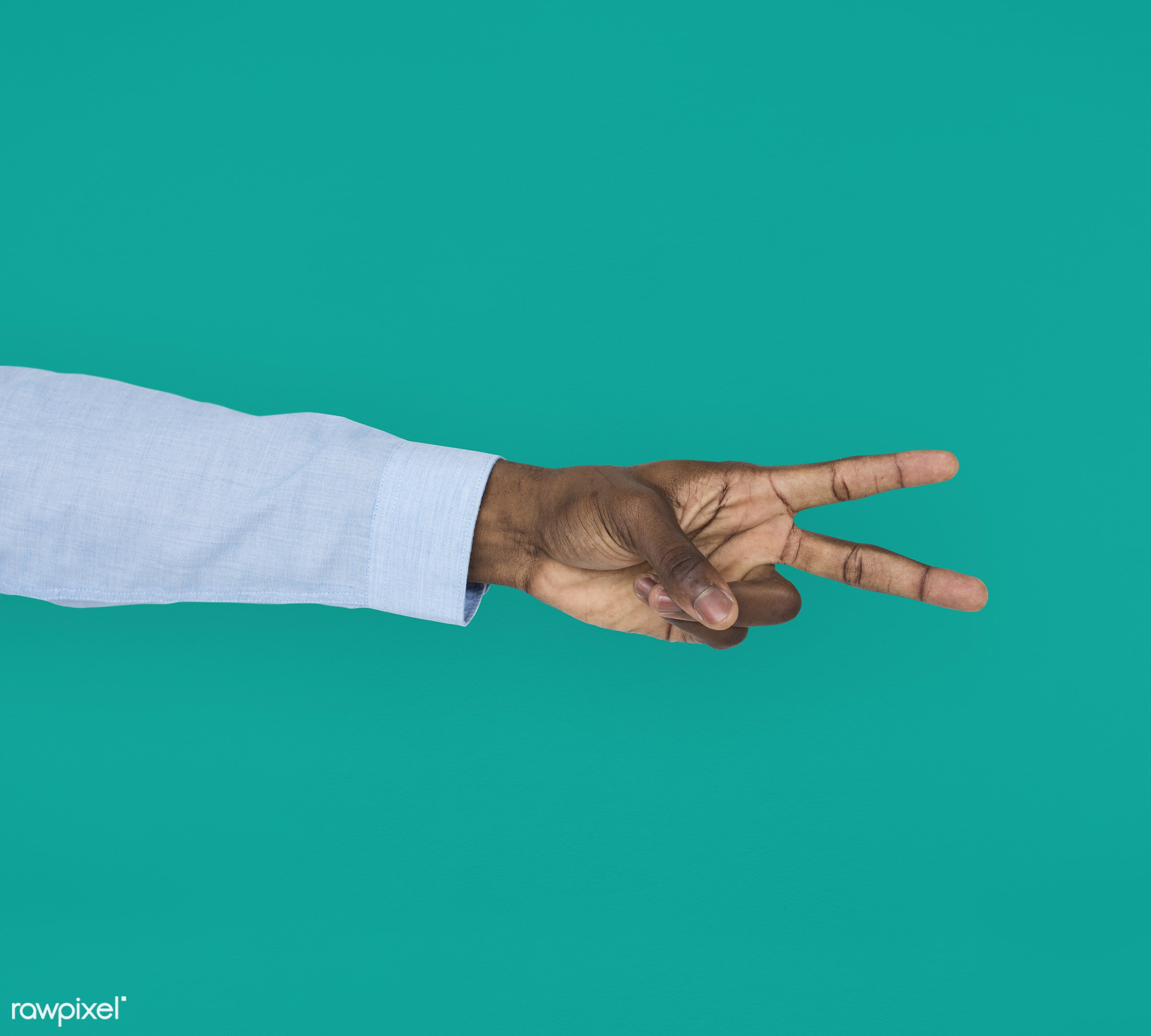 person, race, hand, cheer up, showing, victory, isolated, african descent, green, gesture, human, v, african american,...