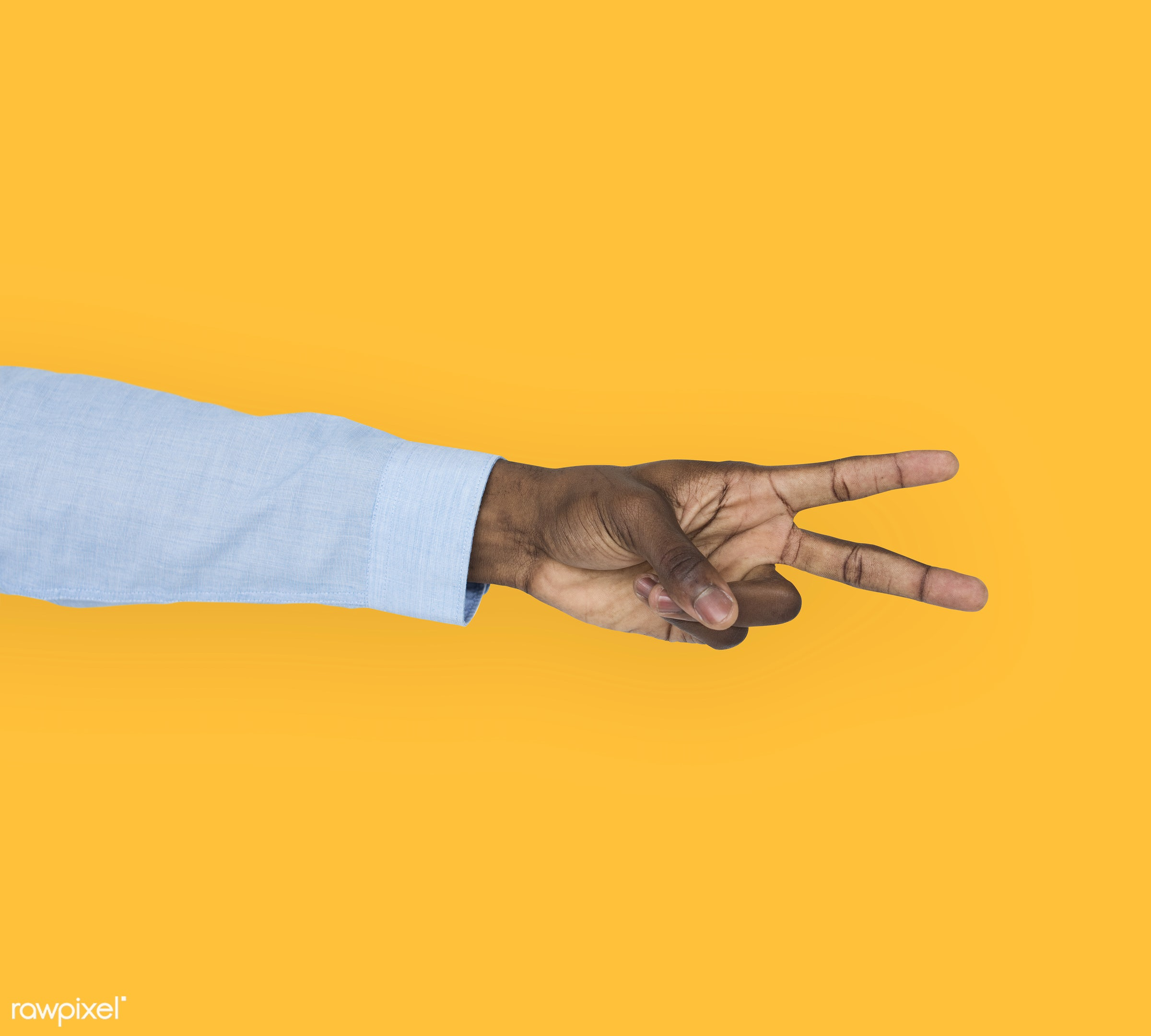 person, yellow, race, hand, cheer up, showing, victory, isolated, african descent, gesture, human, v, african american,...