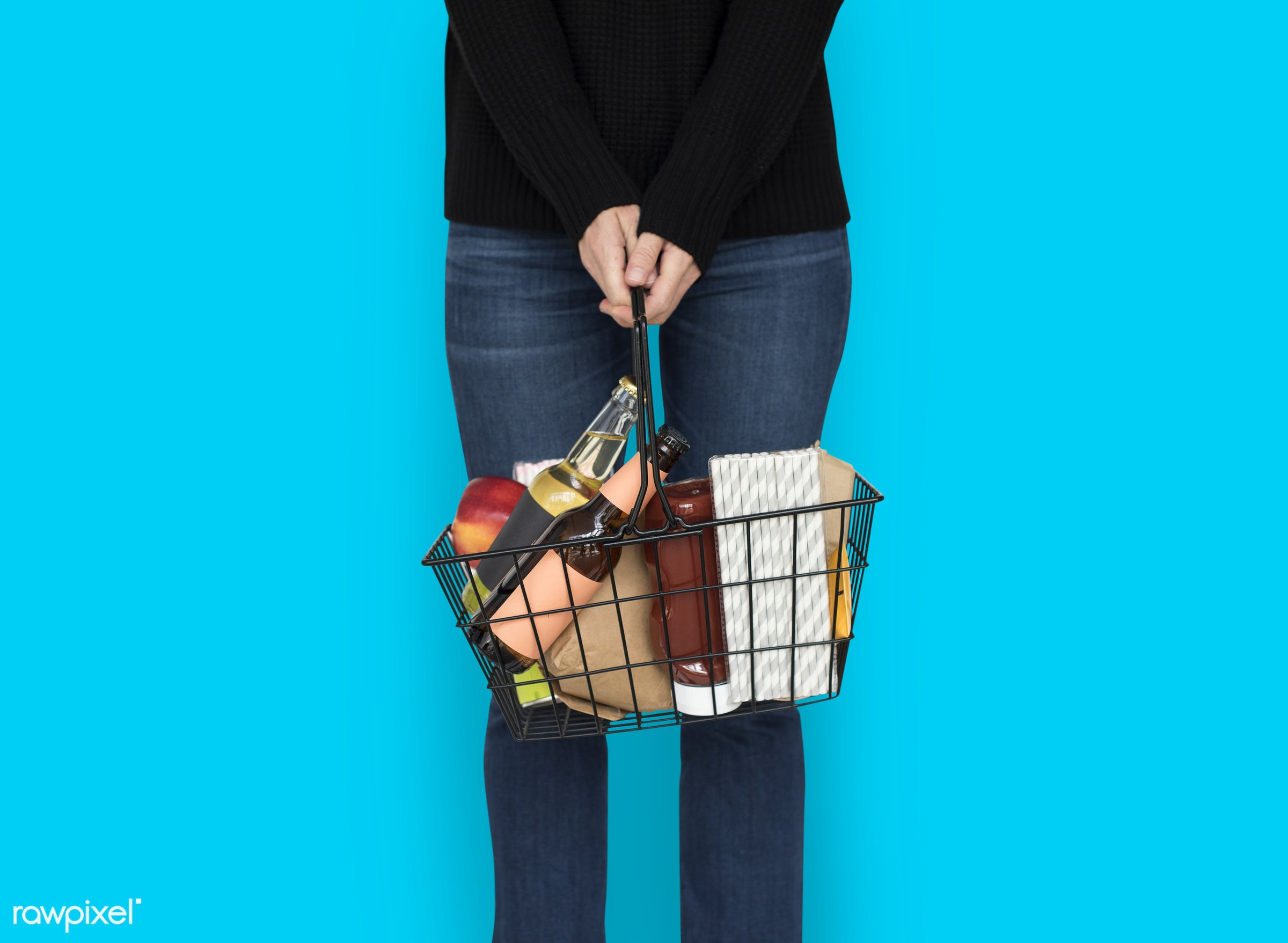 studio, grocery, expression, supermarket, person, model, merchandise, store, holding, consumer, customer, race, people,...