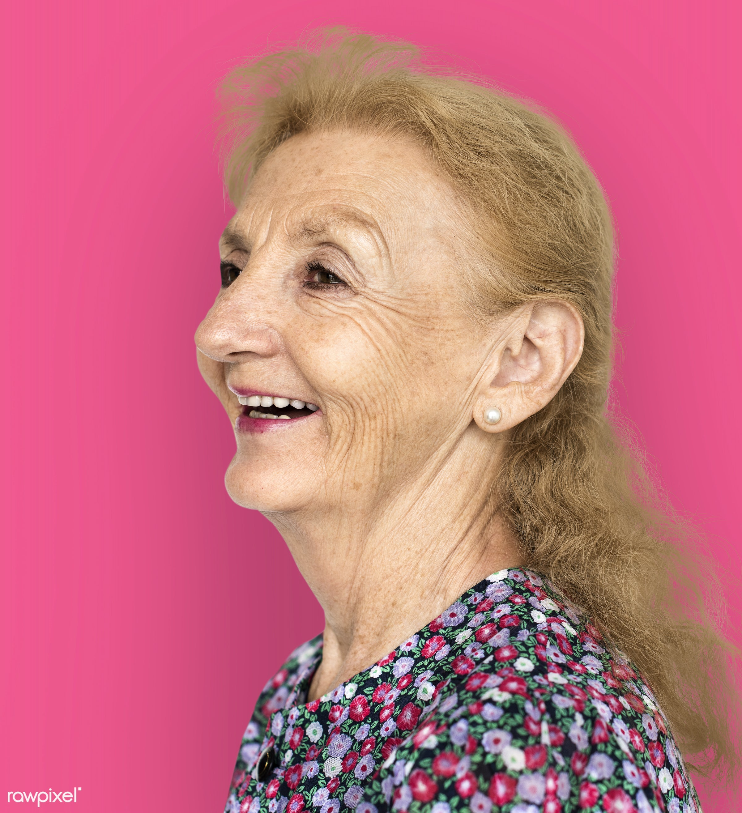 studio, expression, person, freedom, relax, people, caucasian, retirement, woman, lifestyle, pink, westerner, positive,...