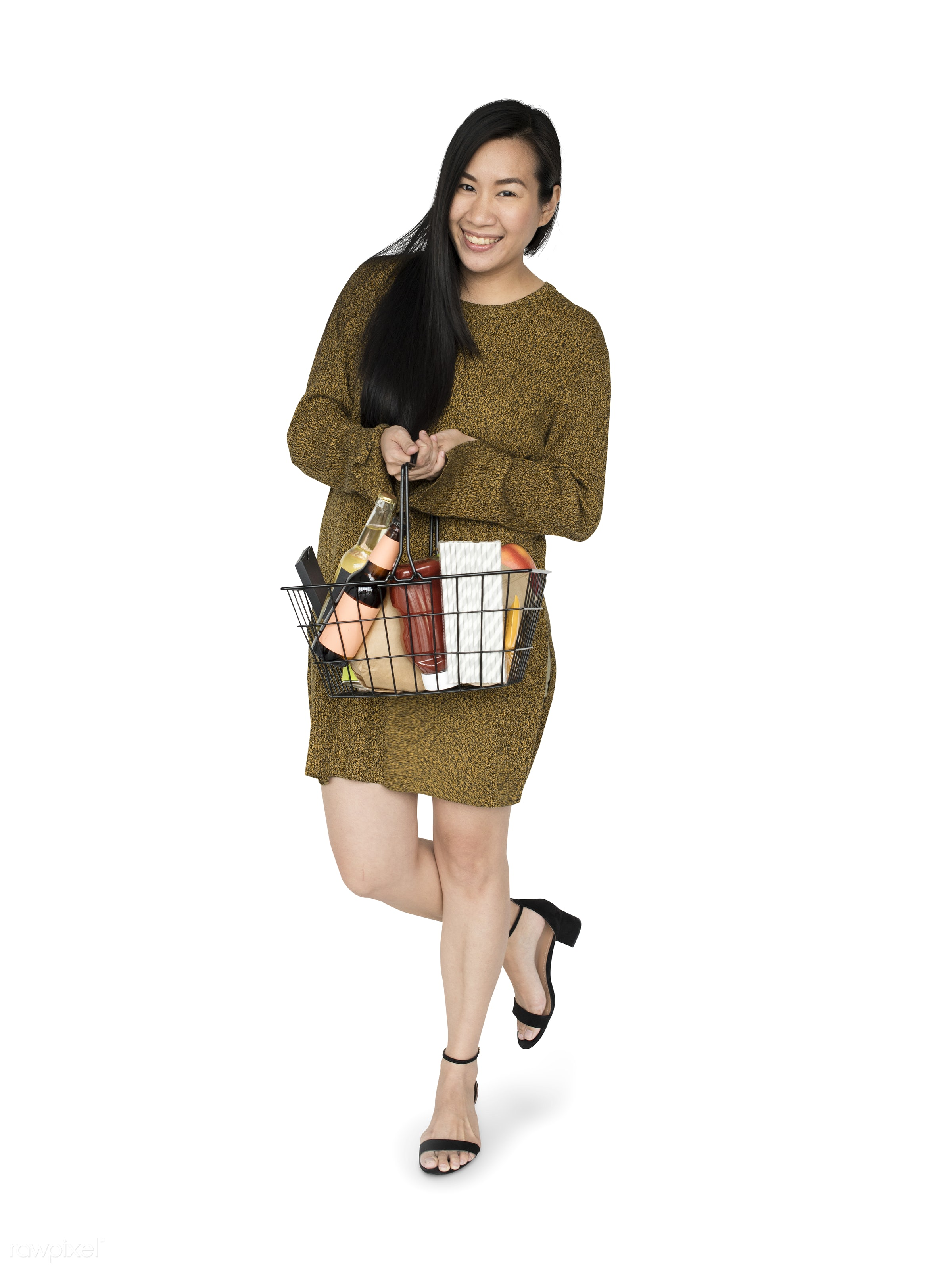 studio, expression, grocery, person, full length, merchandise, store, holding, customer, consumer, race, people, asian,...
